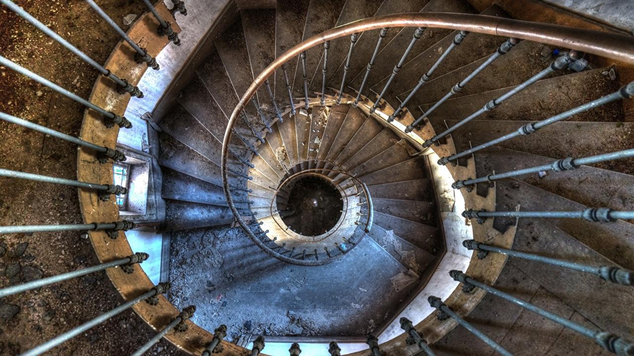 Картинка Лестница Сверху Старый лестницы старая старые