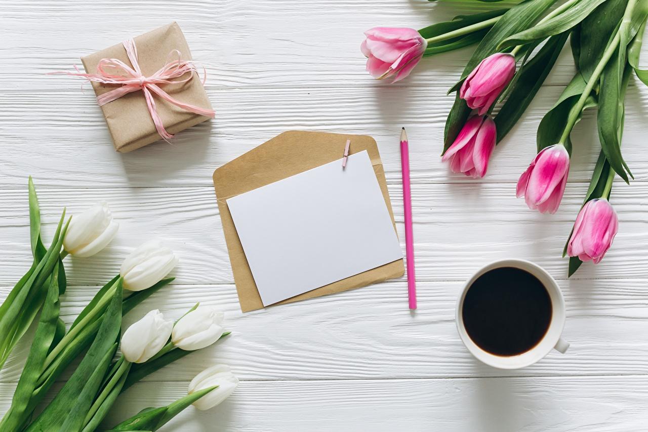 Картинки цветок Кофе Тюльпаны письма Конверт Шаблон поздравительной открытки Цветы тюльпан Письмо