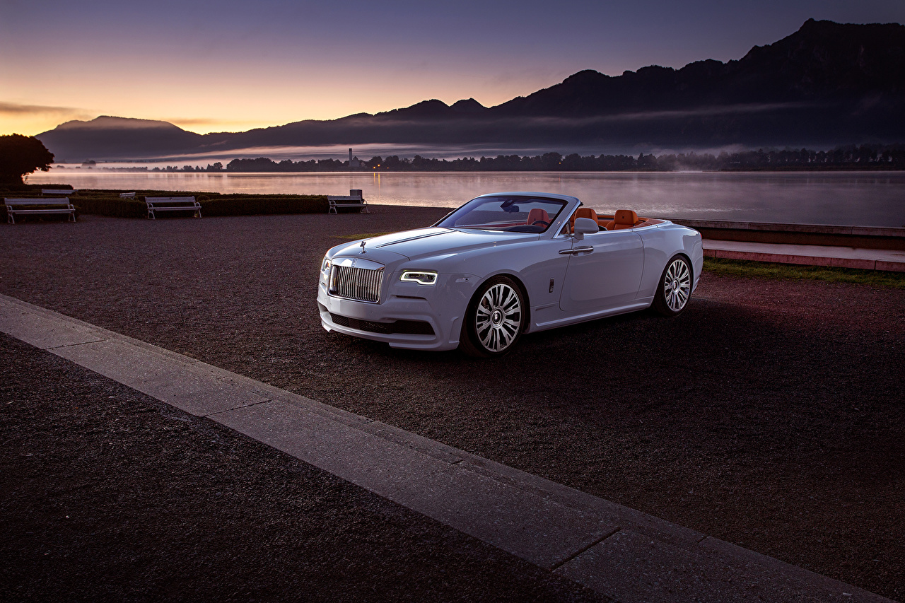 Картинка Rolls-Royce 2016 Dawn by Spofec дорогая Кабриолет Белый Автомобили Роллс ройс дорогие дорогой люксовые роскошная роскошный Роскошные кабриолета белых белые белая авто машина машины автомобиль