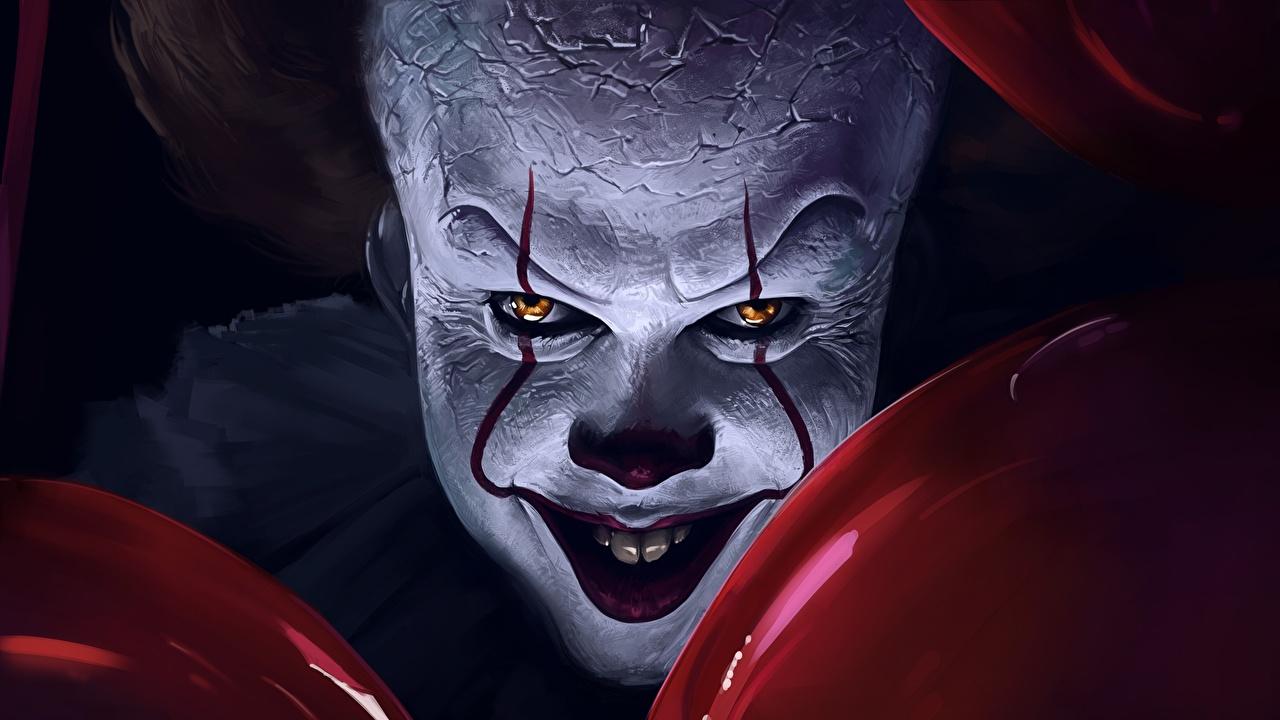 Фотографии ужасные Клоун It Chapter Two Фильмы смотрят страшный Страшные страшная уродливые клоуны клоуна кино Взгляд смотрит