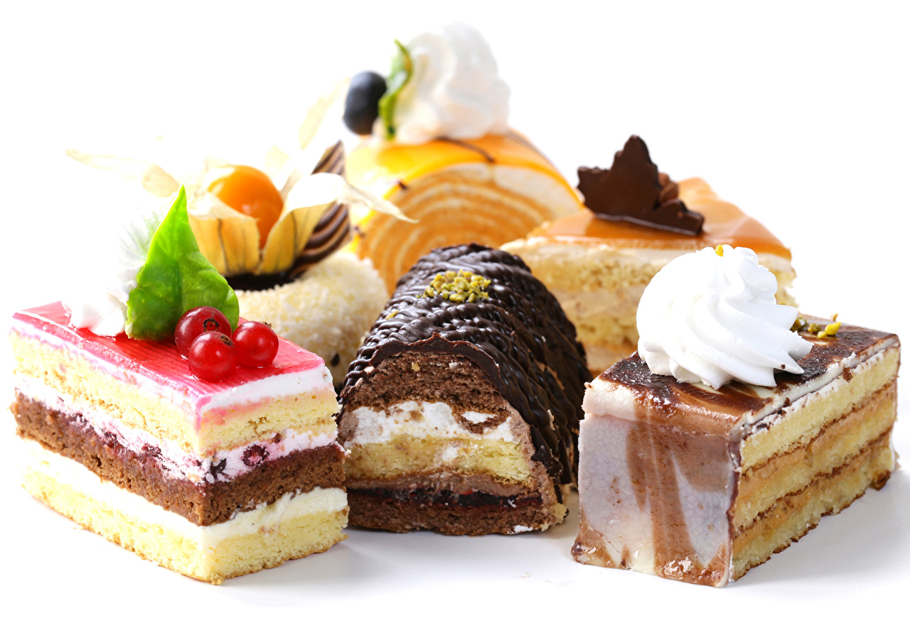 Фото Шоколад Пища Пирожное белом фоне сладкая еда Дизайн Еда Продукты питания Сладости Белый фон белым фоном дизайна