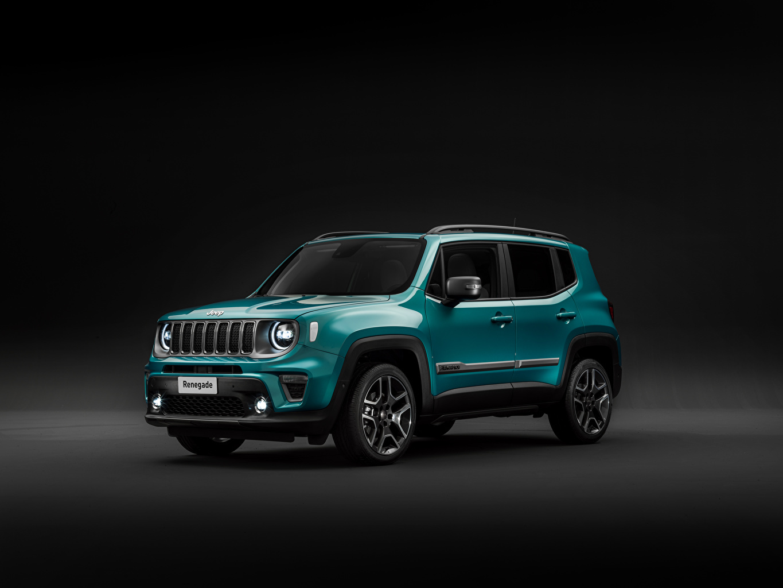 Картинка Джип 2018-19 Renegade Limited Worldwide авто сером фоне Jeep машина машины автомобиль Автомобили Серый фон