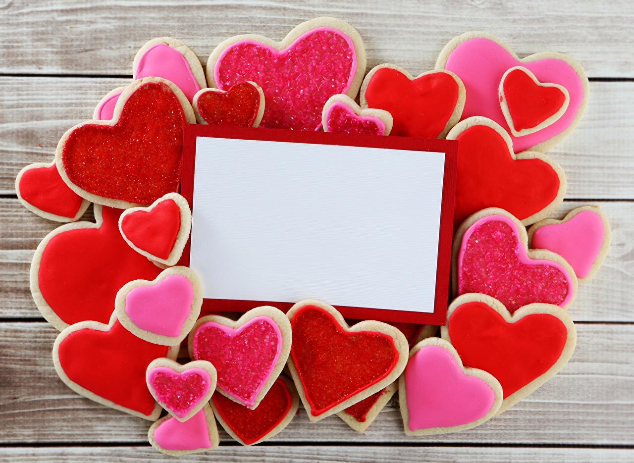 Фотография День всех влюблённых сердечко Еда Печенье Шаблон поздравительной открытки Доски Дизайн День святого Валентина серце сердца Сердце Пища Продукты питания дизайна