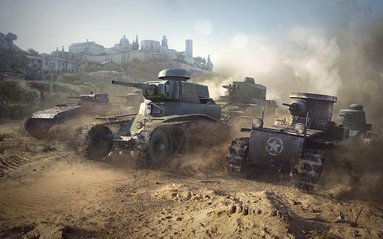 戦車がいっぱいの壁紙