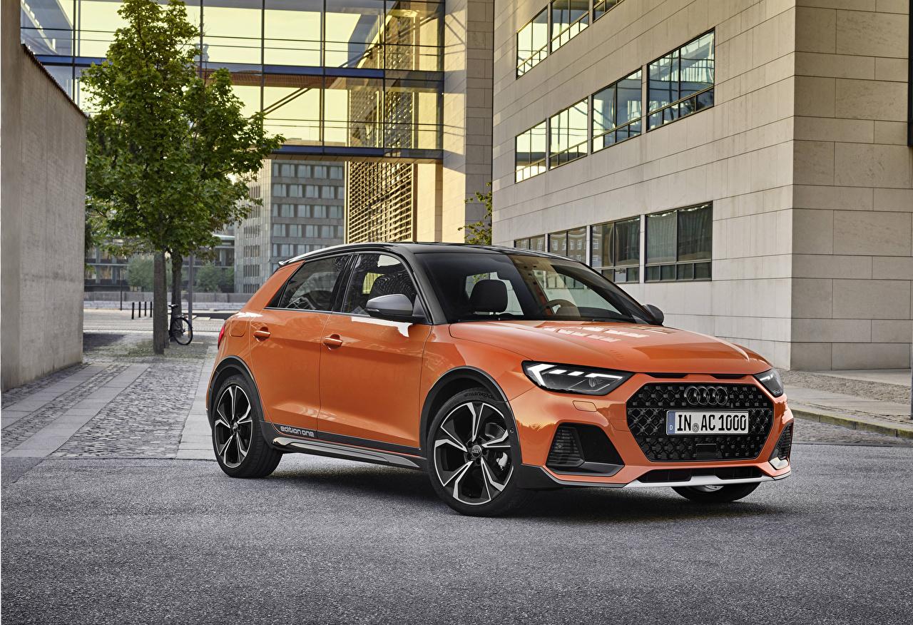 Обои для рабочего стола Ауди 2019 A1 citycarver edition one Worldwide оранжевых машина Металлик Audi Оранжевый оранжевые оранжевая авто машины автомобиль Автомобили