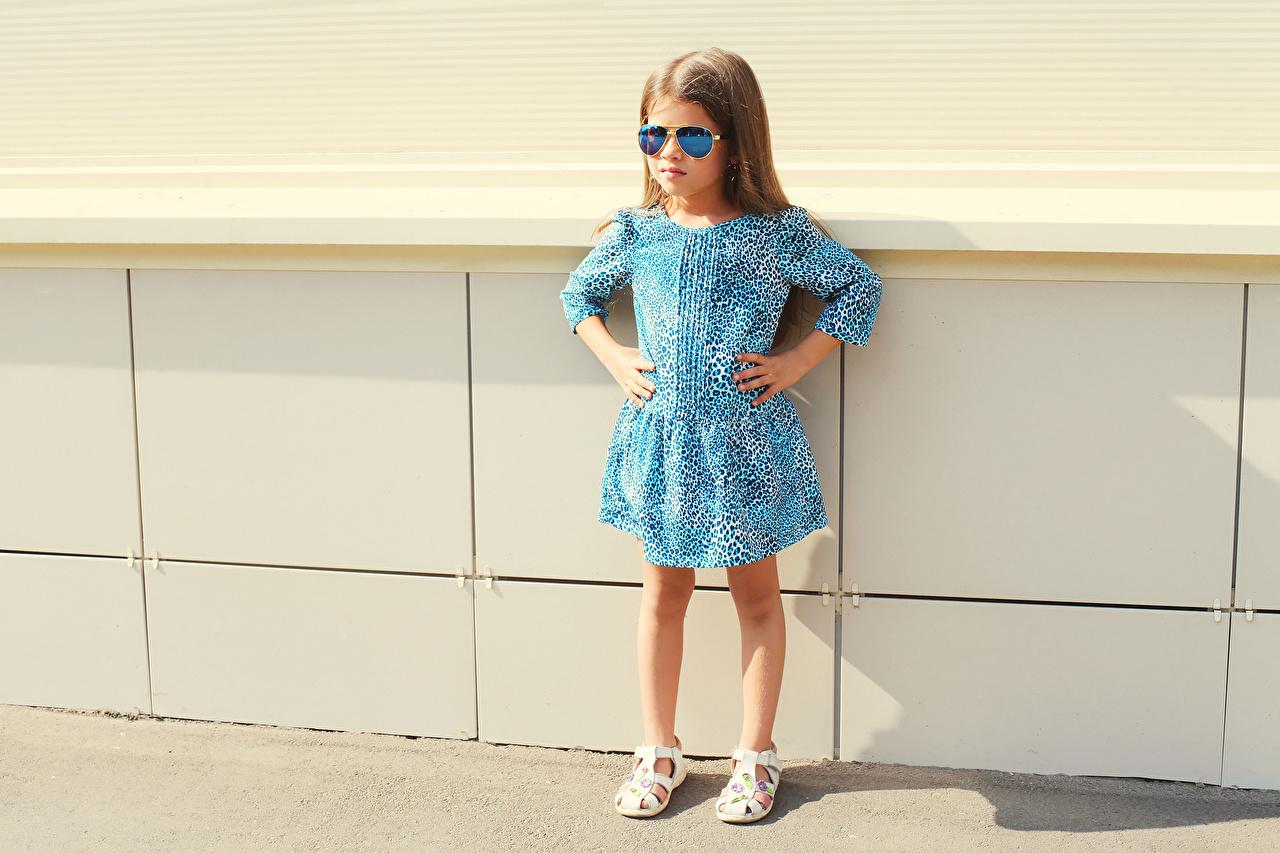 Обои Девочки Модель Ребёнок Очки Платье Дети