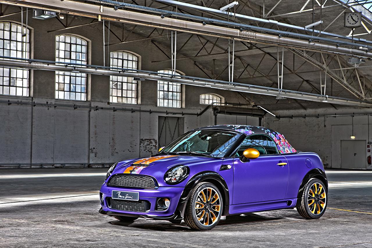 Фотографии Mini 2012 Roadster Родстер HDRI фиолетовая авто Металлик Мини HDR фиолетовых фиолетовые Фиолетовый машина машины автомобиль Автомобили