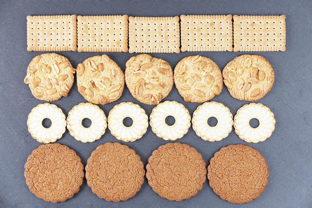 Картинка Еда Печенье Крупным планом Пища Продукты питания вблизи