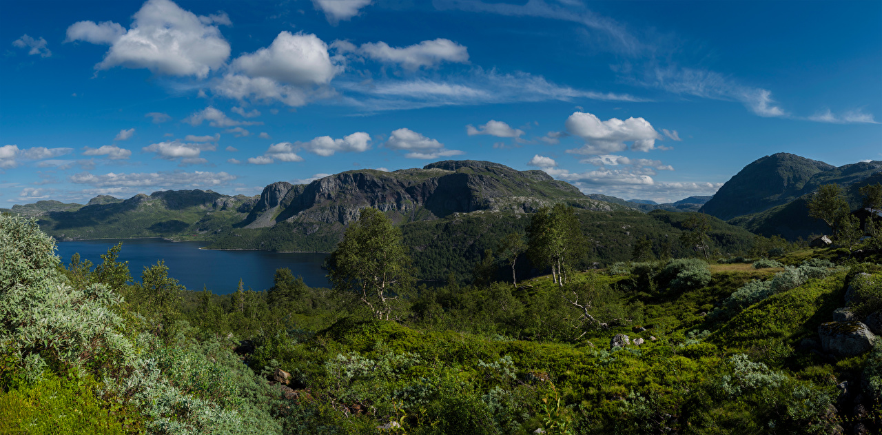 Картинки Норвегия Suldal гора Природа Небо Облака Горы облако облачно