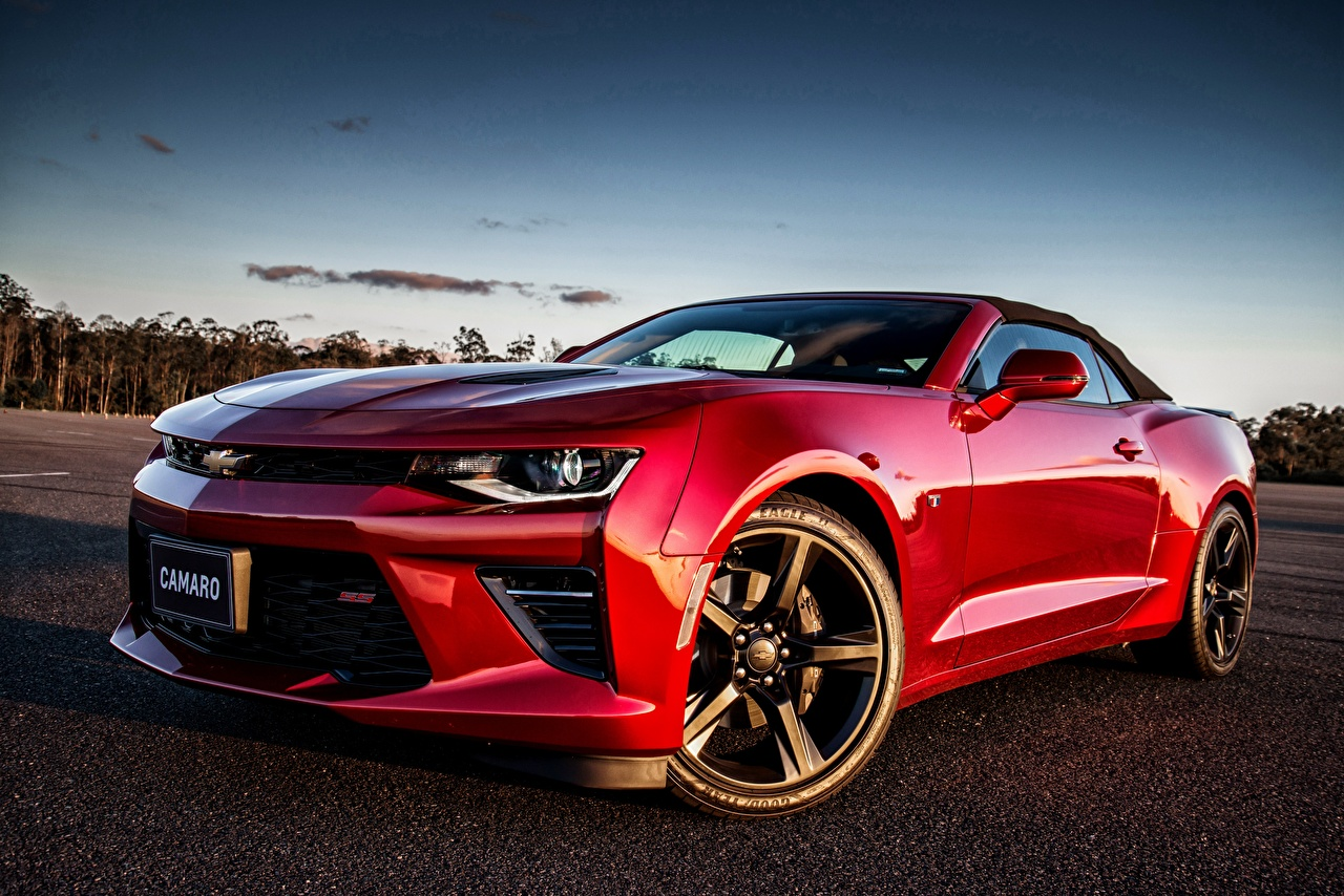 Фото Шевроле Camaro красные Автомобили Chevrolet красных Красный красная авто машина машины автомобиль