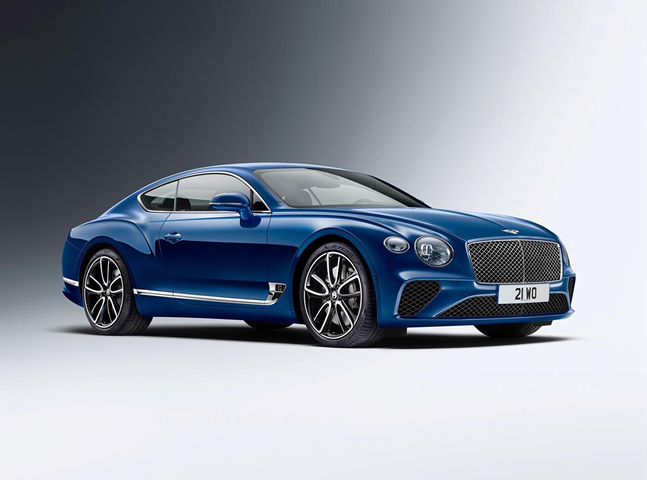 Фото Bentley Continental GT 2018 Синий Металлик автомобиль Бентли синяя синие синих авто машины машина Автомобили