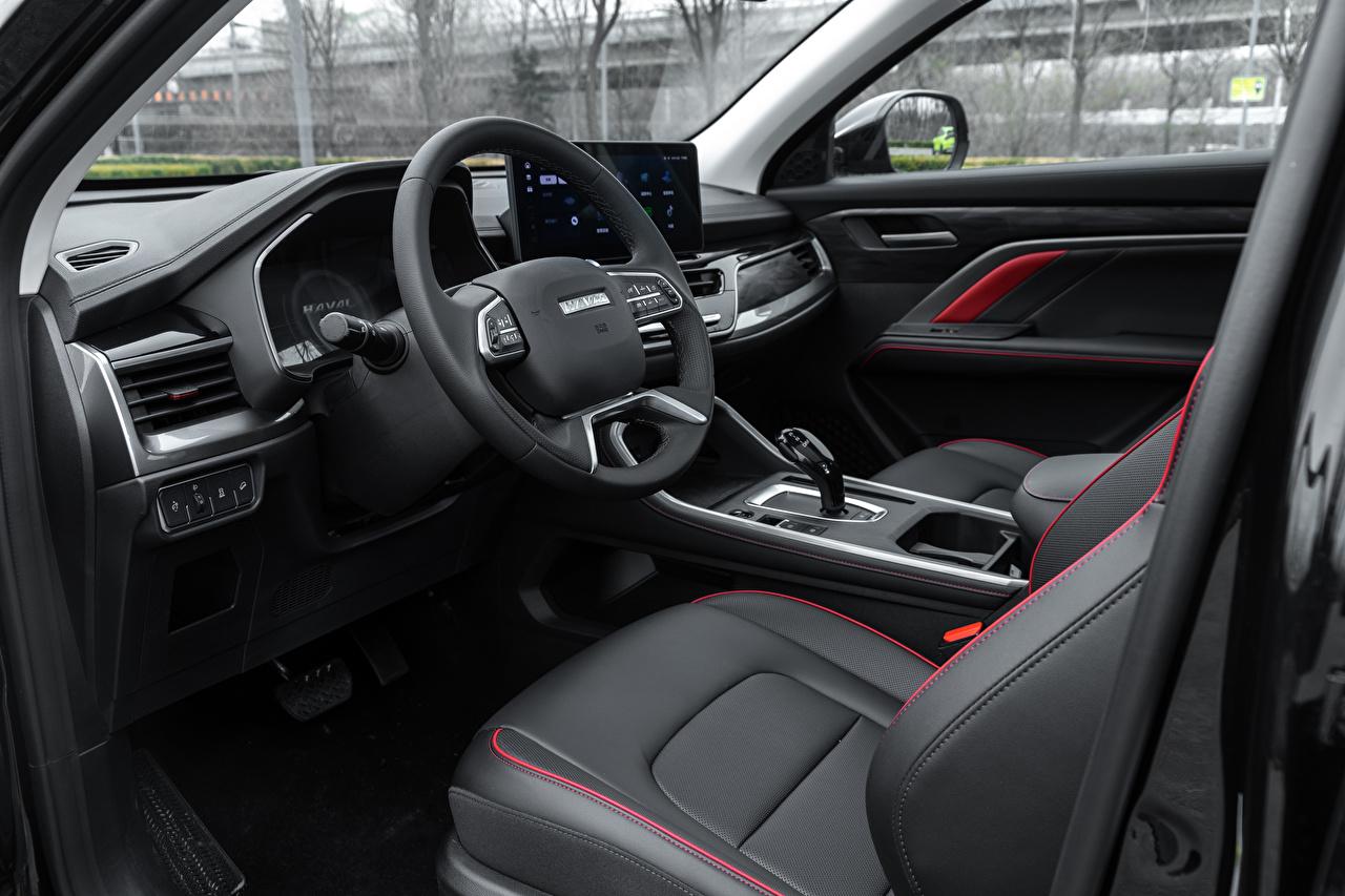 Обои для рабочего стола Салоны Haval китайская CUV Автомобильный руль H6 GT, 2021 Автомобили китайский Китайские Кроссовер Рулевое колесо авто машины машина автомобиль