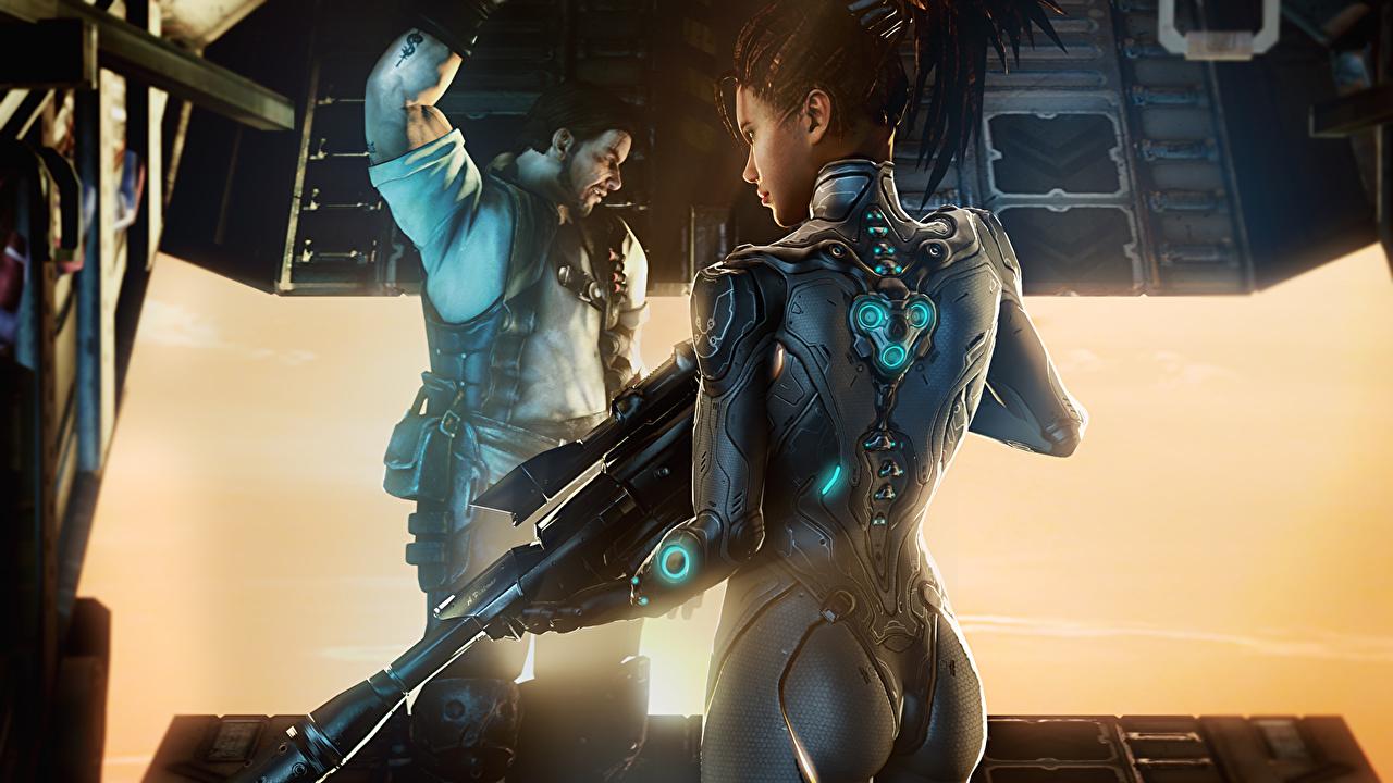 Картинка StarCraft StarCraft 2 Воители 3д Фэнтези молодые женщины Игры воин воины девушка Девушки 3D Графика Фантастика молодая женщина компьютерная игра