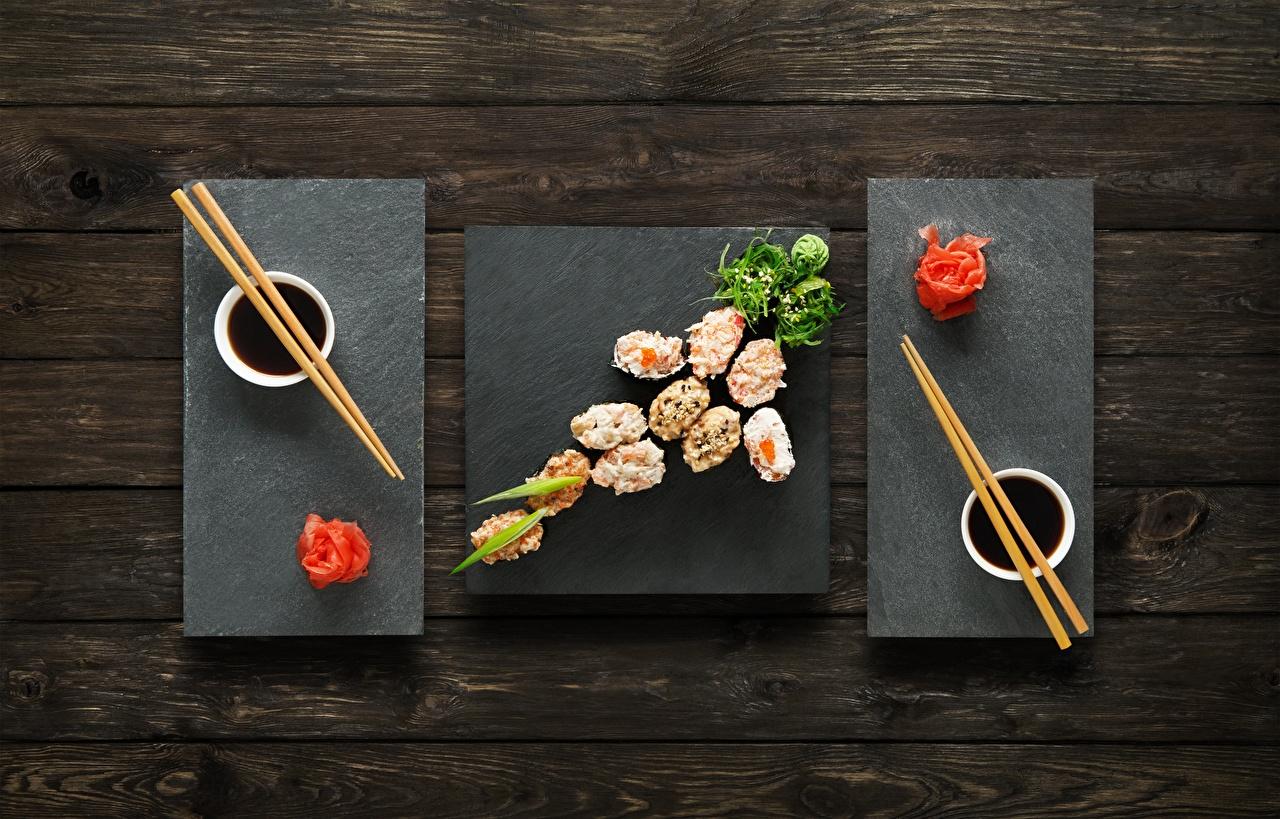 Обои для рабочего стола Имбирь Соевый соус Суши Еда Палочки для еды суси Пища Продукты питания