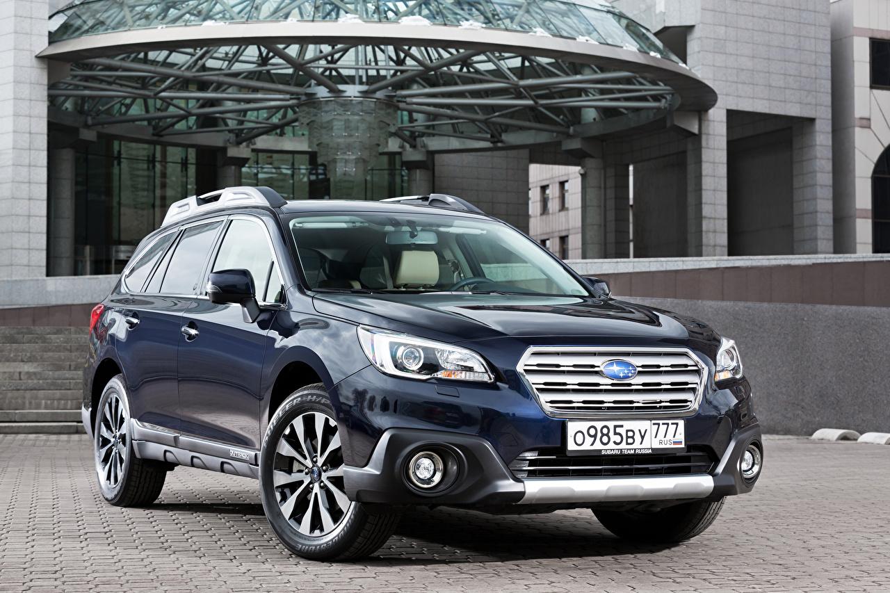Фотографии Subaru 2015, Outback синяя Металлик Автомобили Субару синих синие Синий авто машина машины автомобиль