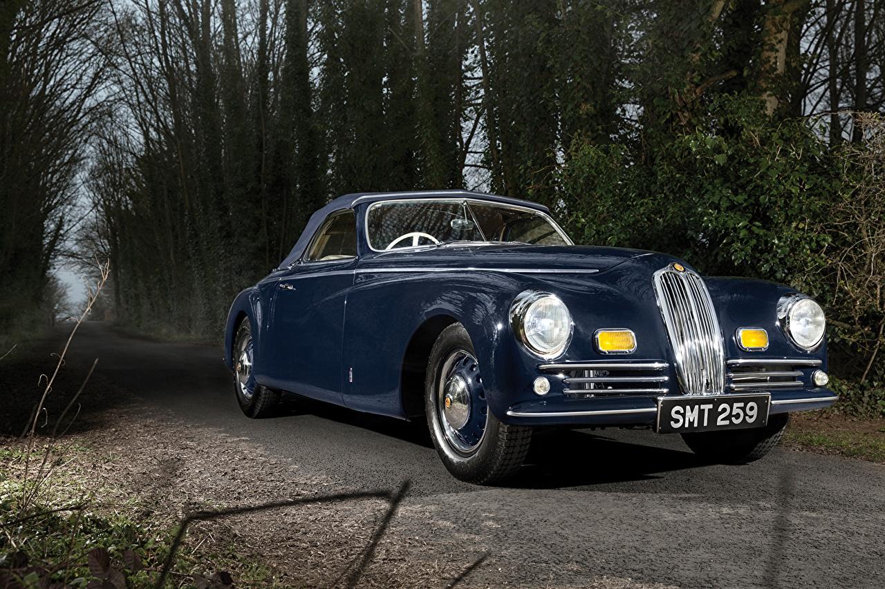 Фото автомобиль 1947 Bristol 400 Cabriolet Pininfarina винтаж Синий Металлик авто машина машины Автомобили Ретро старинные синих синие синяя