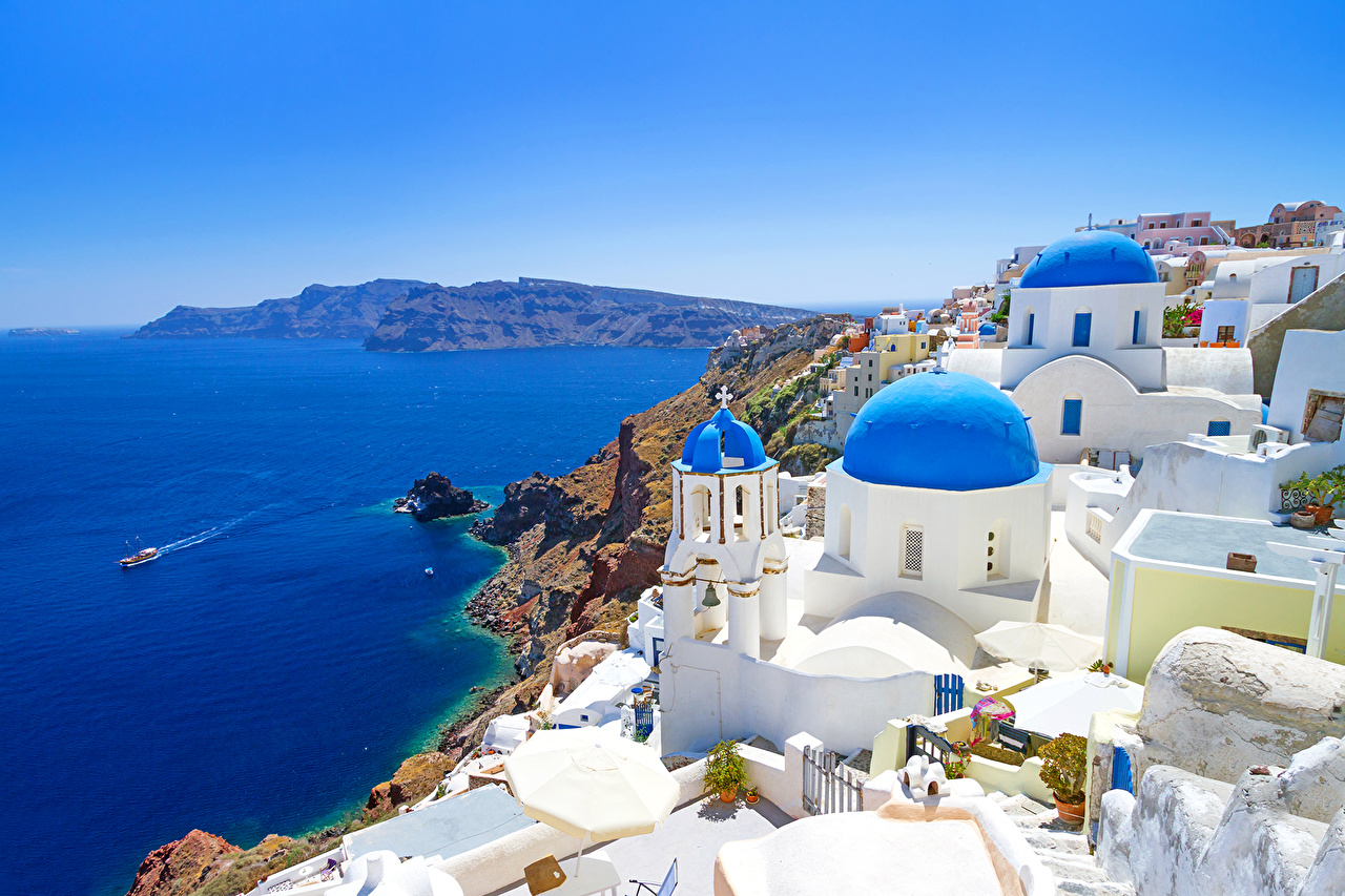 Обои побережье, greece, coast, греция. Города foto 7