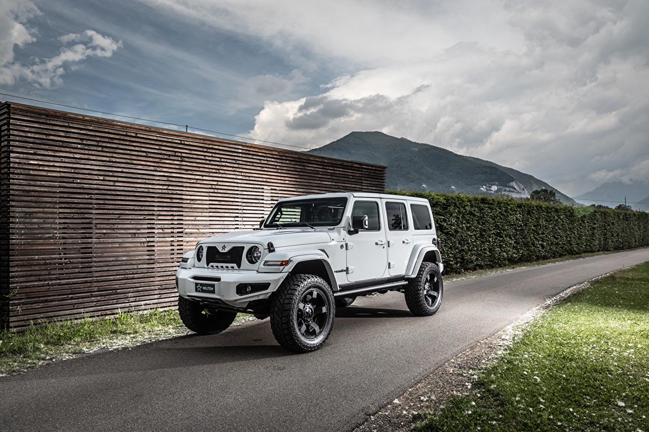 Фотографии Джип Внедорожник 2019 Militem Ferōx белые Автомобили Jeep SUV белая Белый белых авто машины машина автомобиль