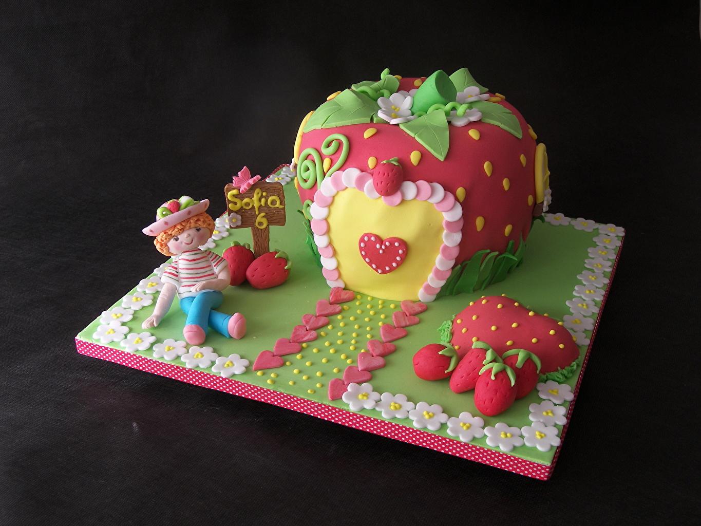 Фотография Торты Продукты питания Сладости Цветной фон Еда Пища сладкая еда