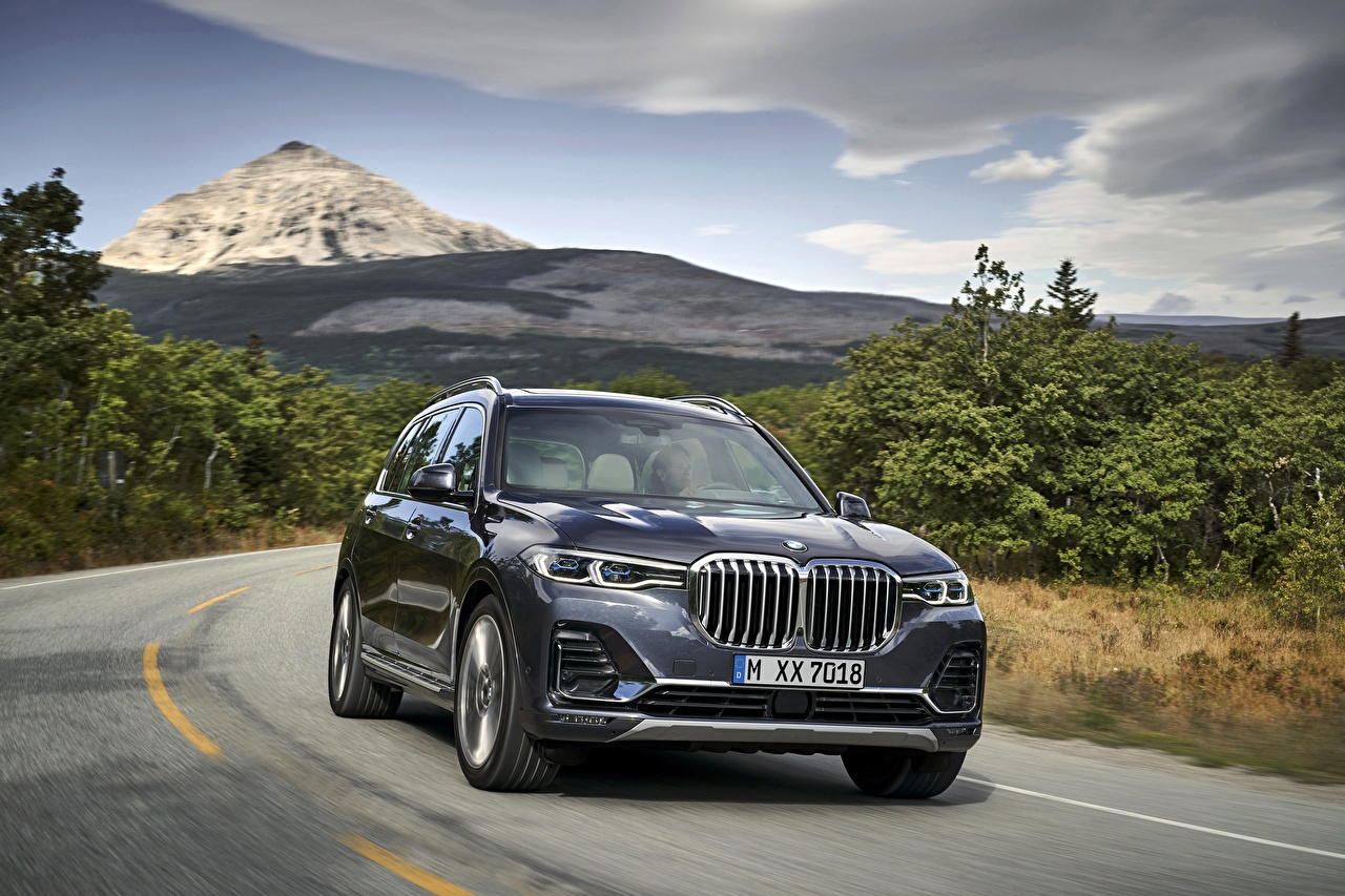 Картинки БМВ CUV 2019 X7 G07 Автомобили BMW Кроссовер авто машины машина автомобиль