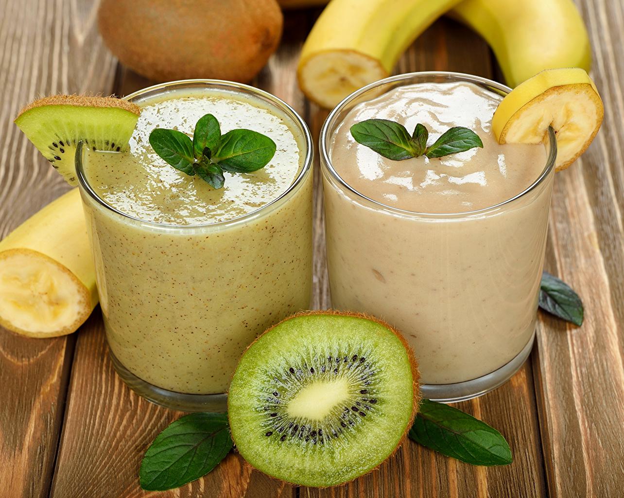 Картинки Киви Стакан Коктейль Продукты питания напиток стакана стакане Еда Пища Напитки