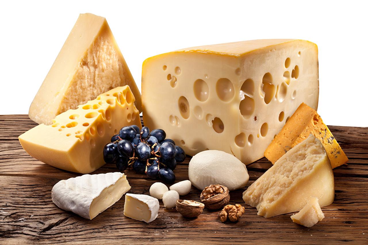 Картинки Сыры Виноград Продукты питания Орехи Еда Пища