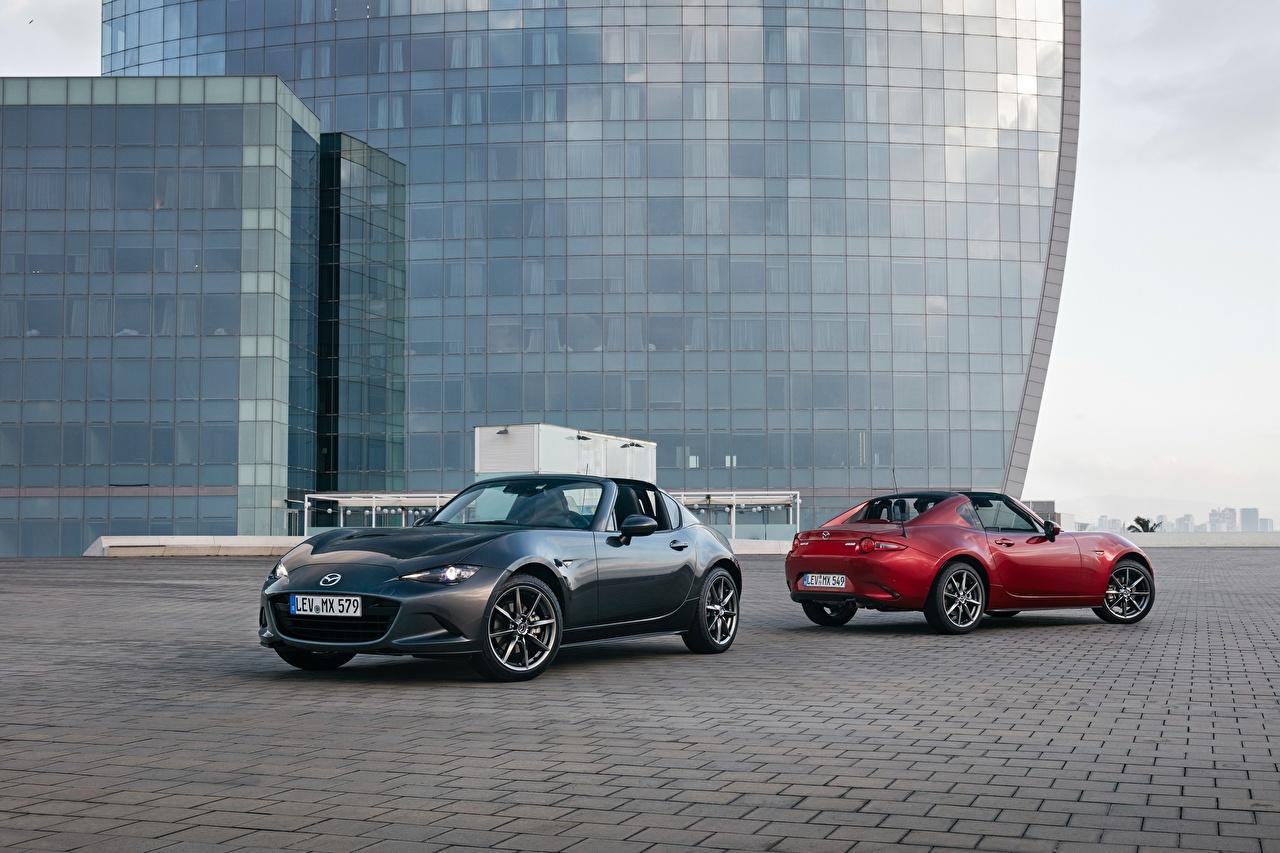 Картинка Mazda 2016-17 MX-5 RF Worldwide Родстер Двое Металлик автомобиль Мазда 2 два две вдвоем авто машина машины Автомобили