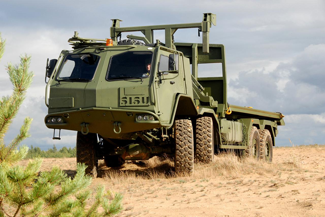 Фотография Грузовики Боевая техника 2006-18 Sisu E13TP 8×8 авто Армия машина машины Автомобили автомобиль военные