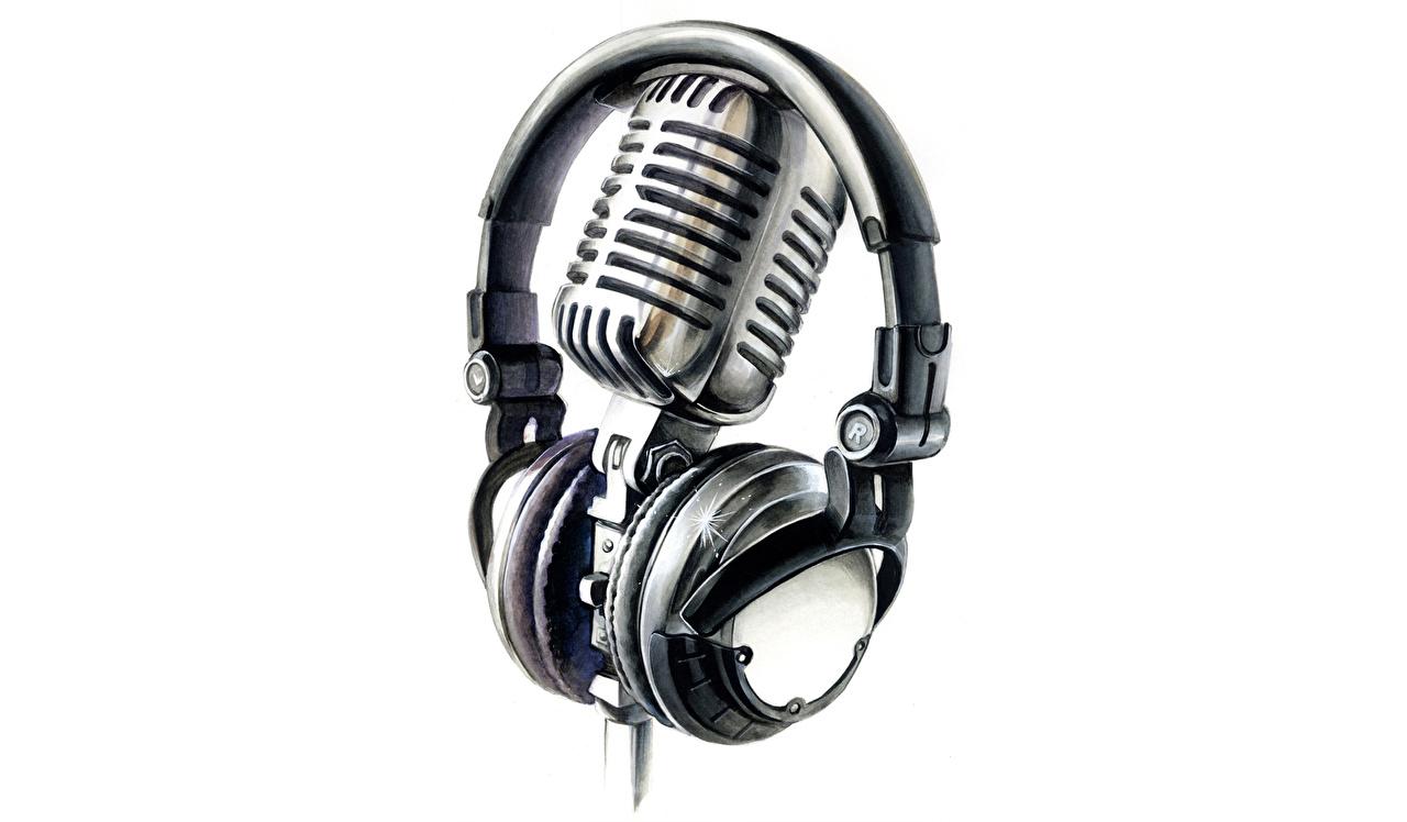 Микрофон  фото обои   GoodFon