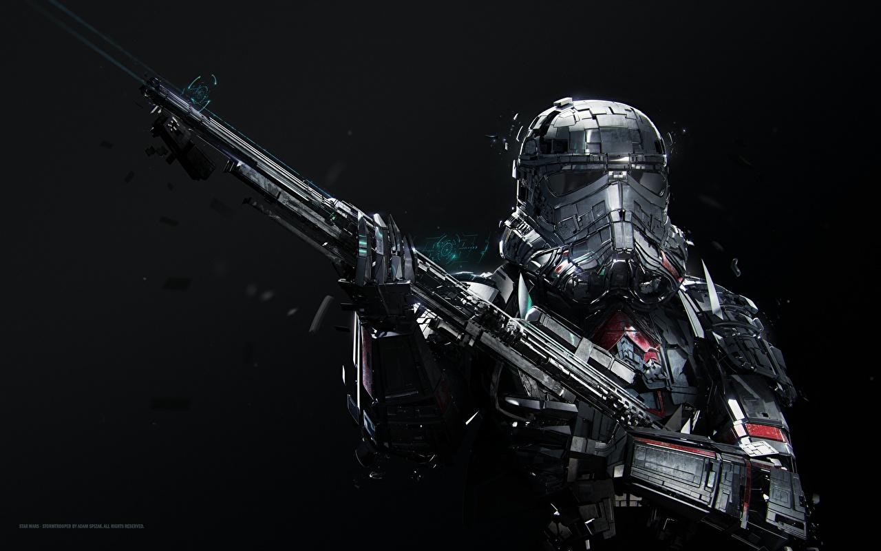 Фото Звездные войны Винтовки шлема Adam Spizak, Stormtrooper Фантастика винтовка Шлем в шлеме Фэнтези