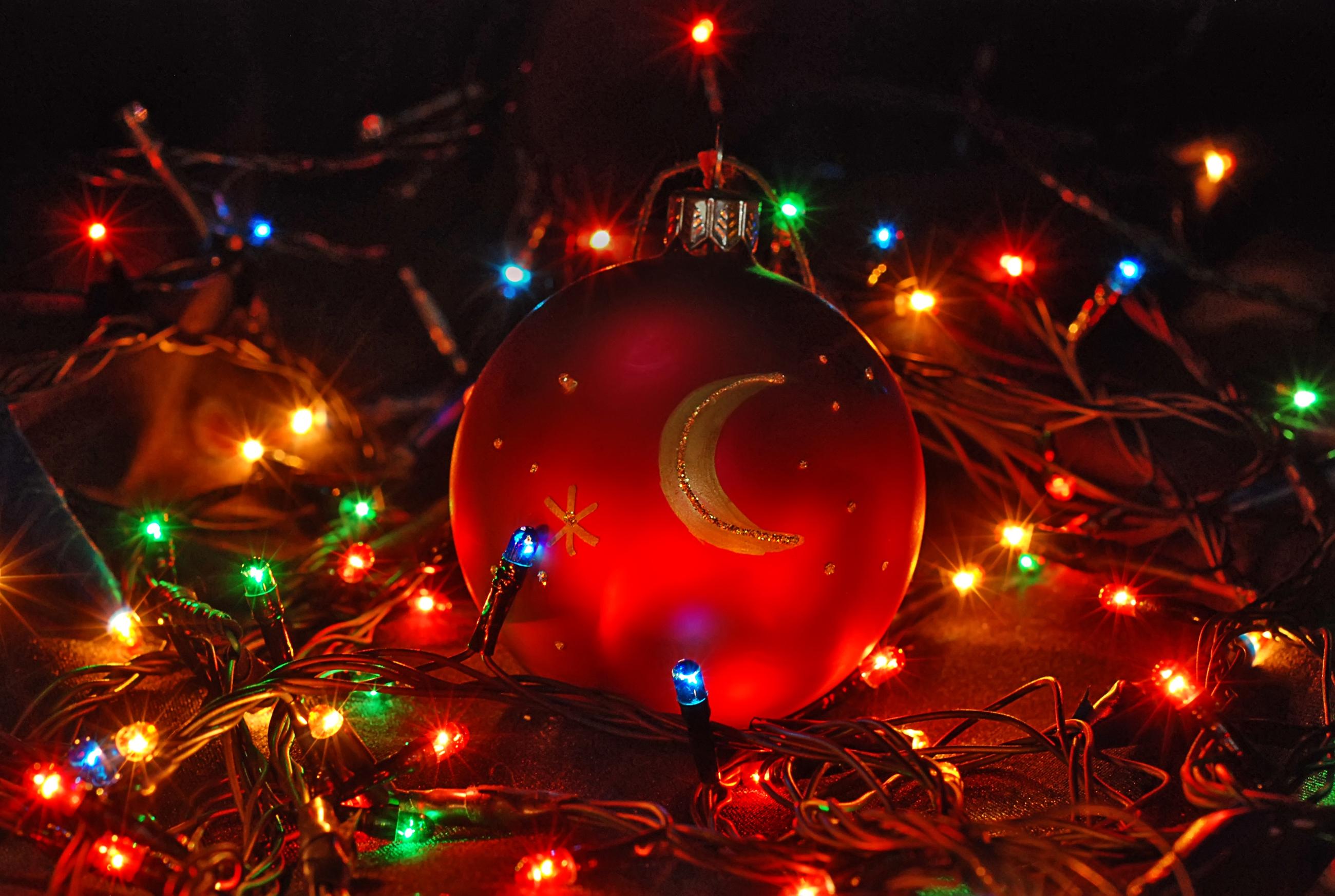 рождество, шары, огни бесплатно