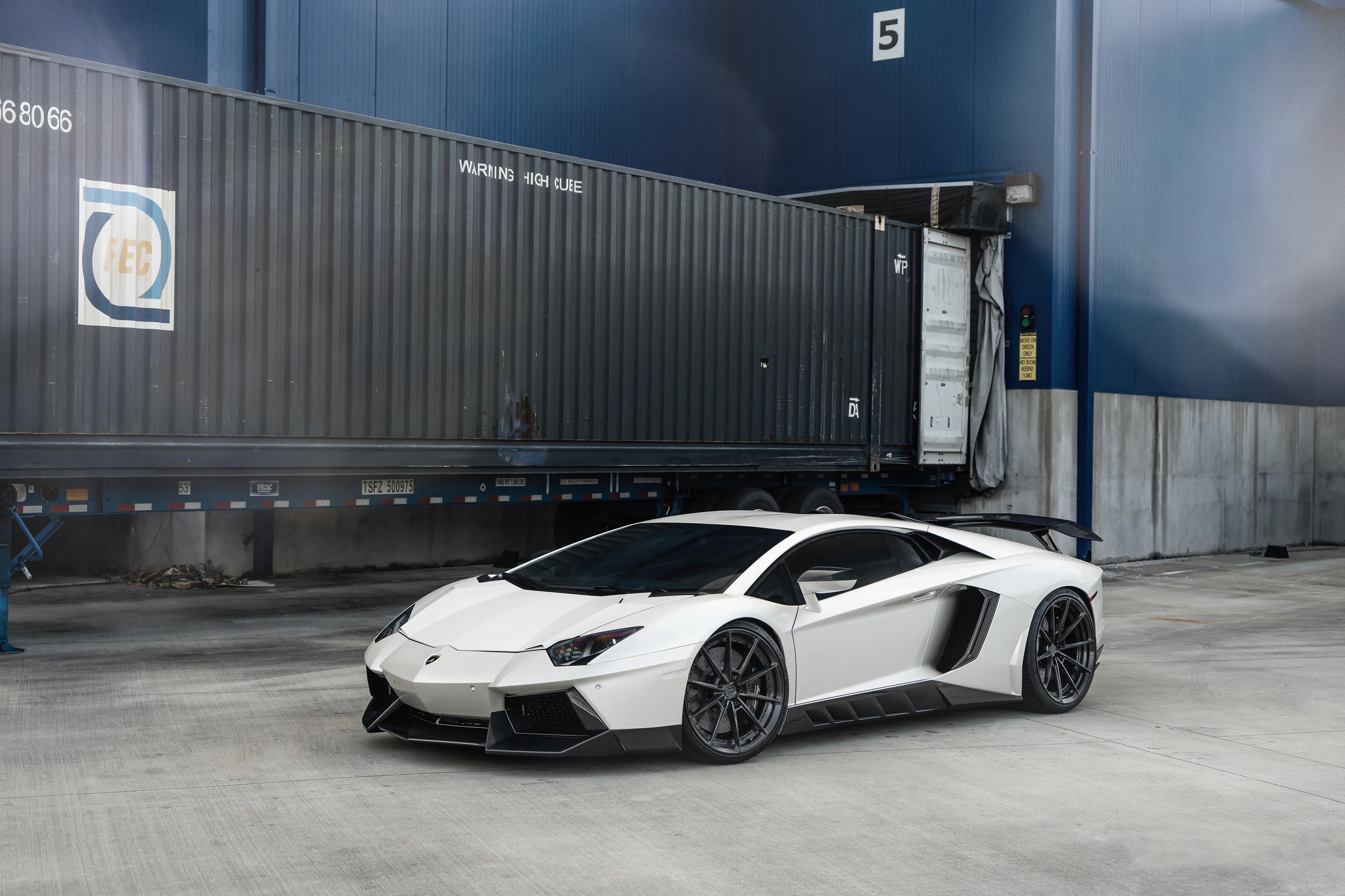 Фотография Ламборгини LP700 ANRKY AN28 белых машина 5120x3414 Lamborghini белая белые Белый авто машины Автомобили автомобиль