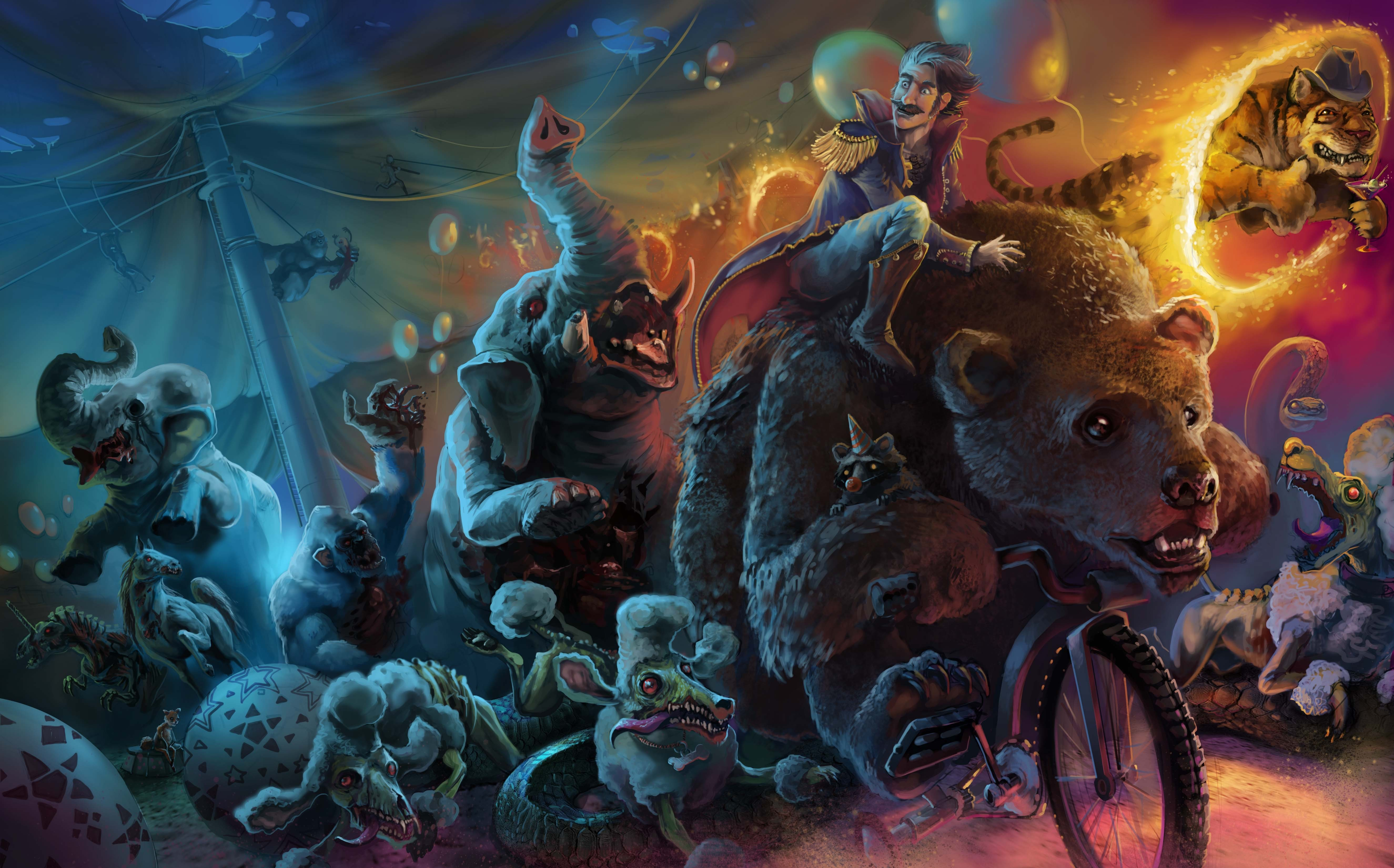 evil cartoon animals - HD5300×3300