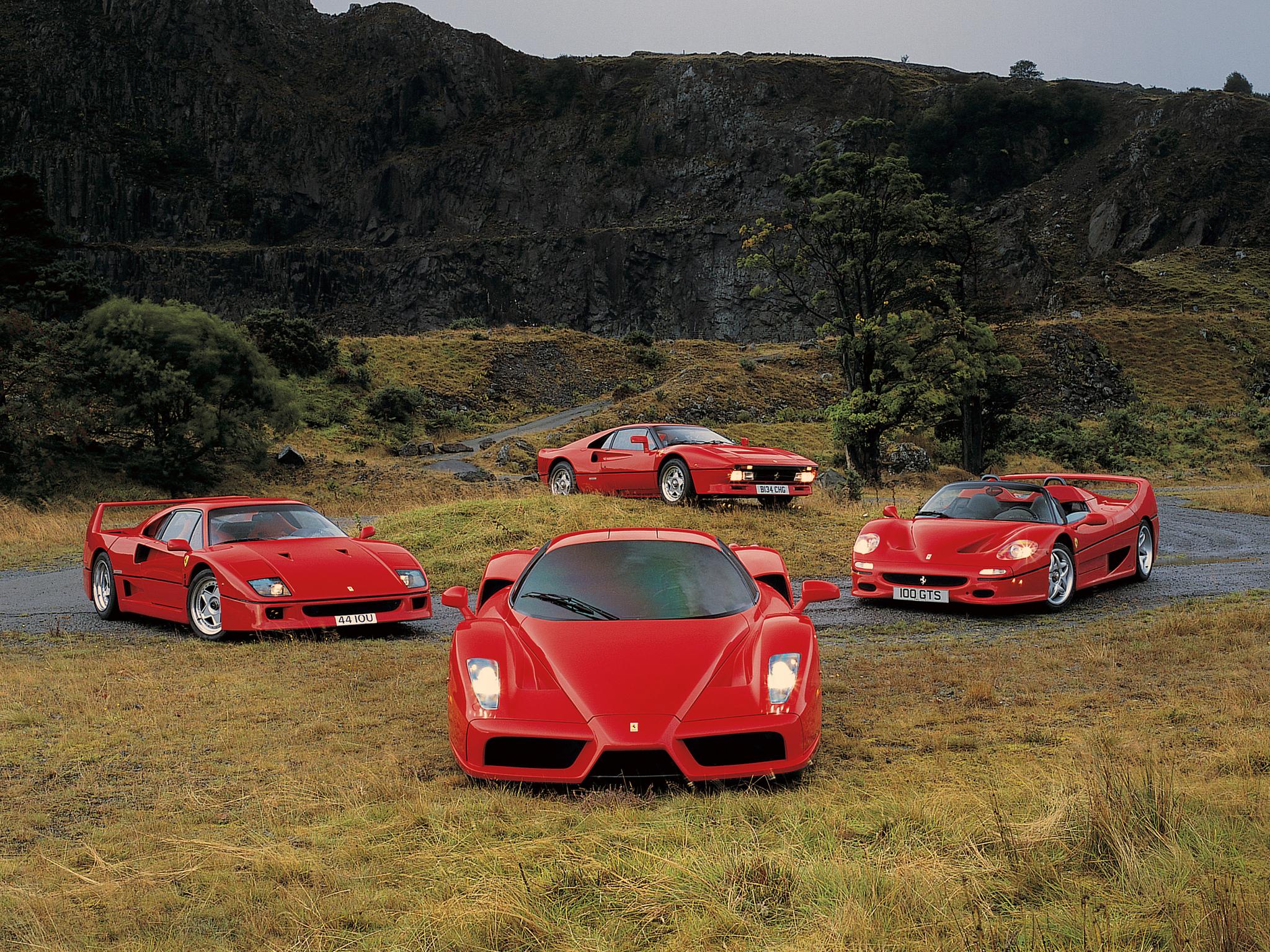 красный автомобиль Ferrari F50 Enzo скачать