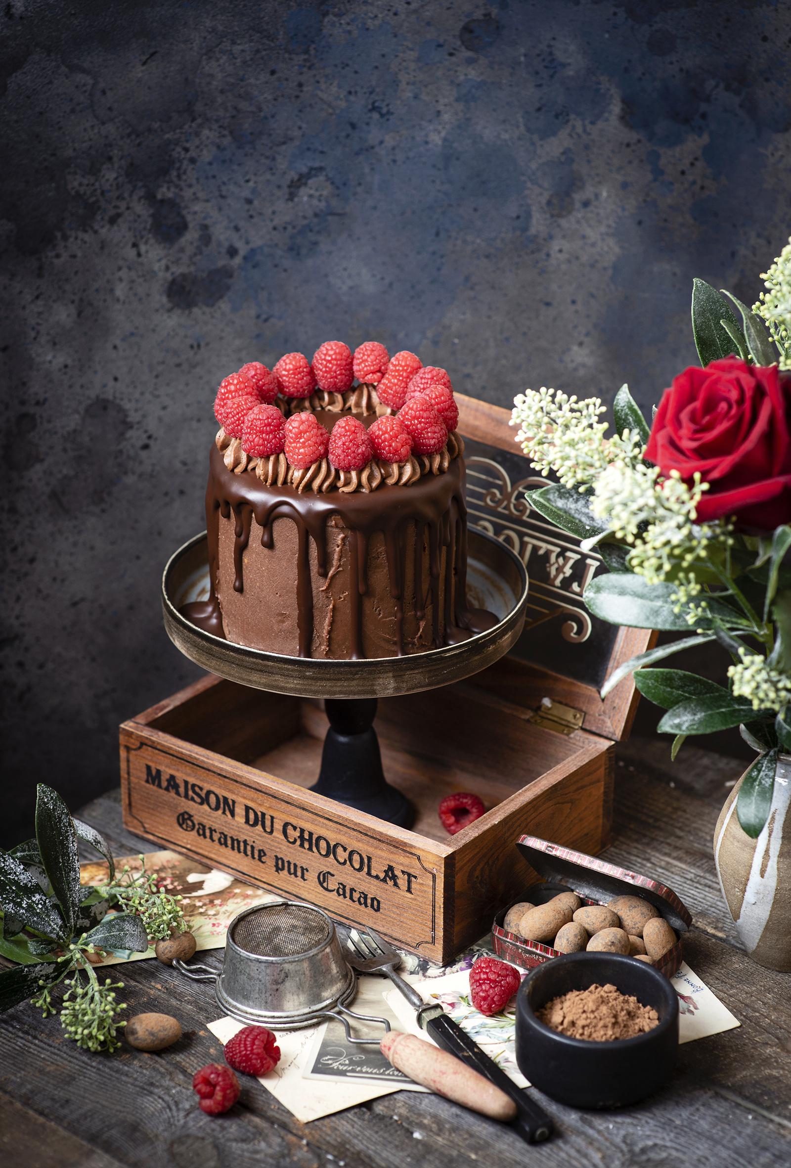 Фотографии Шоколад Торты Какао порошок Малина Еда дизайна  для мобильного телефона Пища Продукты питания Дизайн