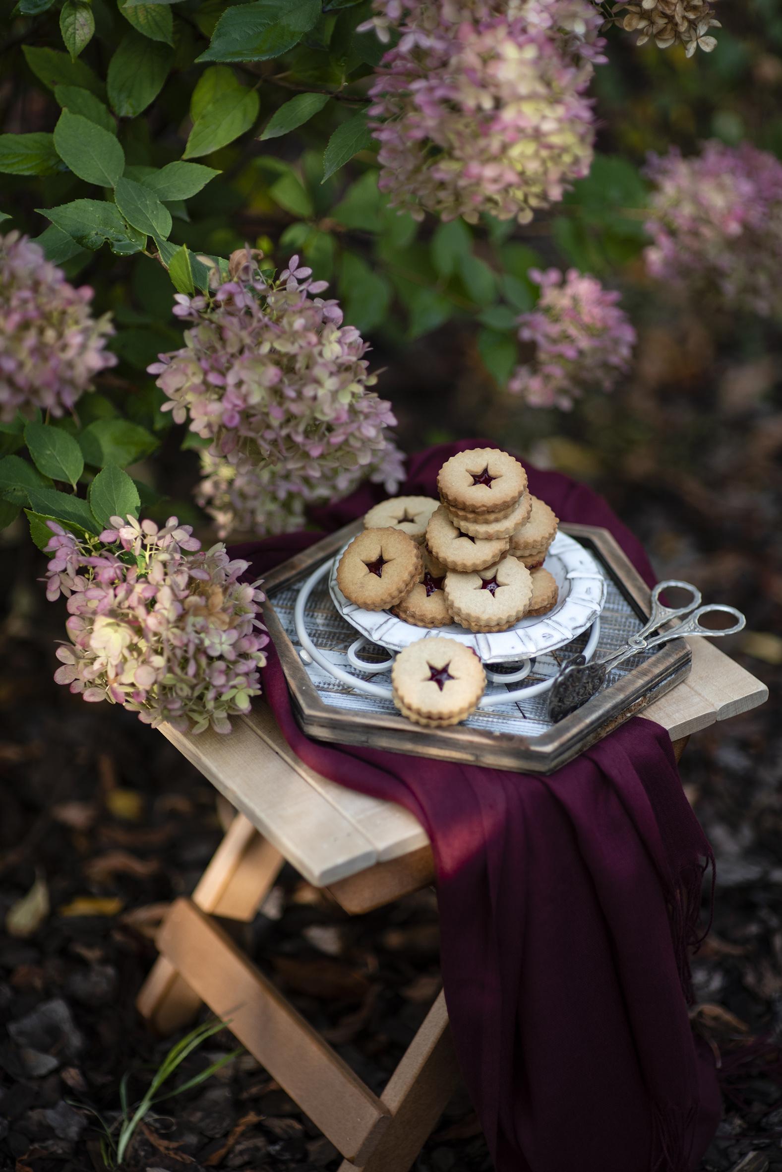 Картинки цветок Гортензия Пища Печенье  для мобильного телефона Цветы Еда Продукты питания