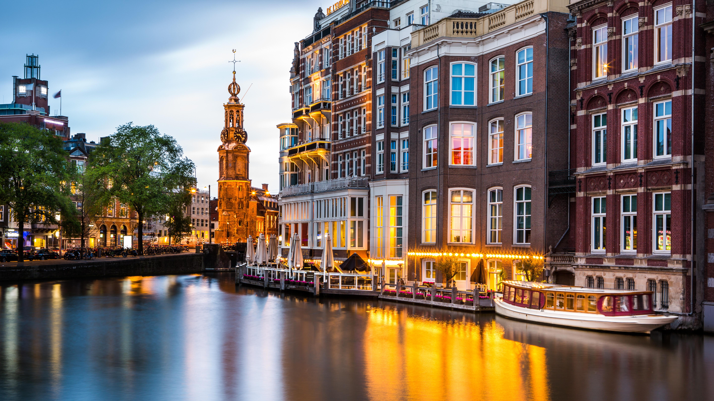 страны архитектура река Амстердам бесплатно