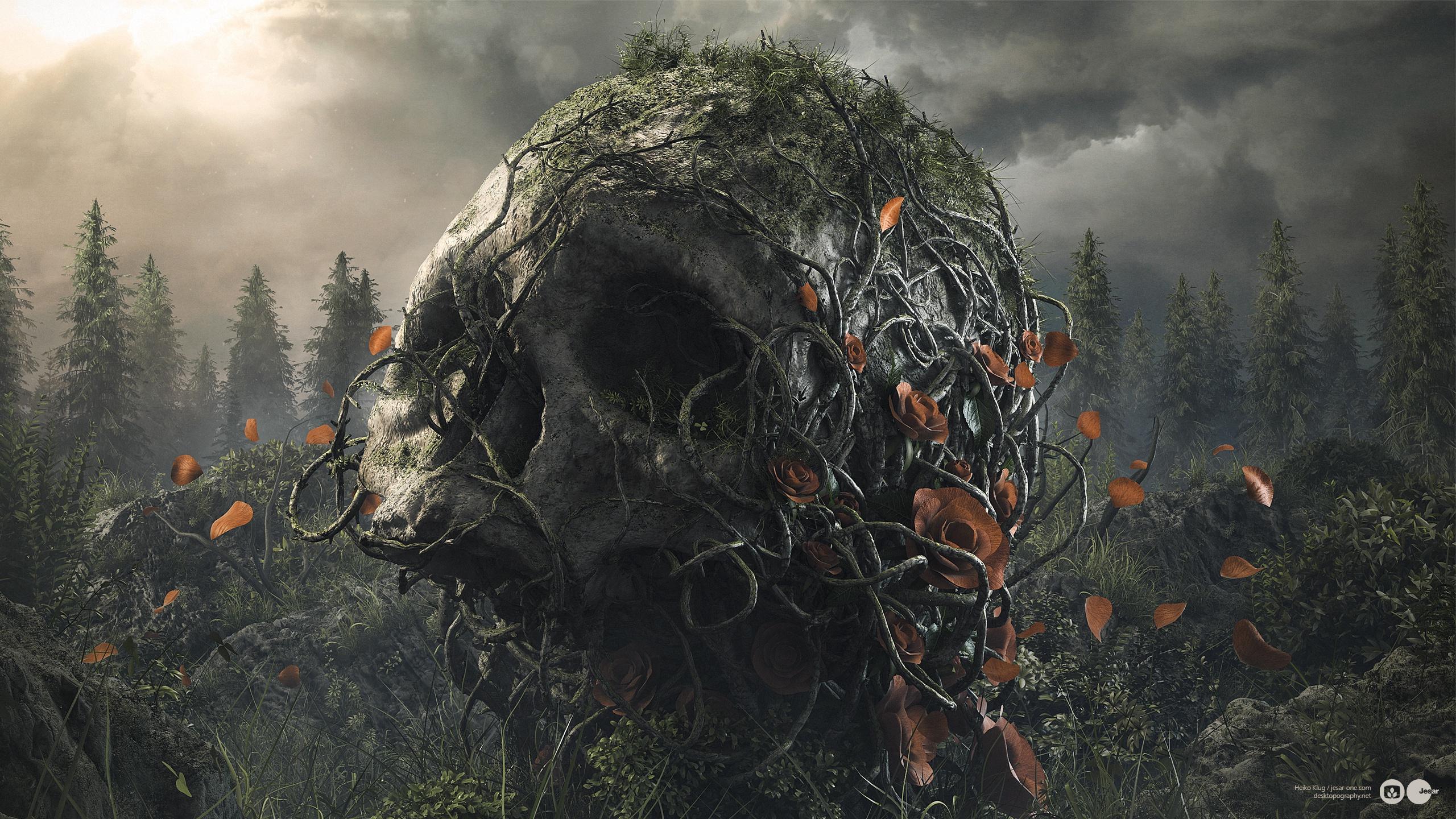 черепа готические картинки