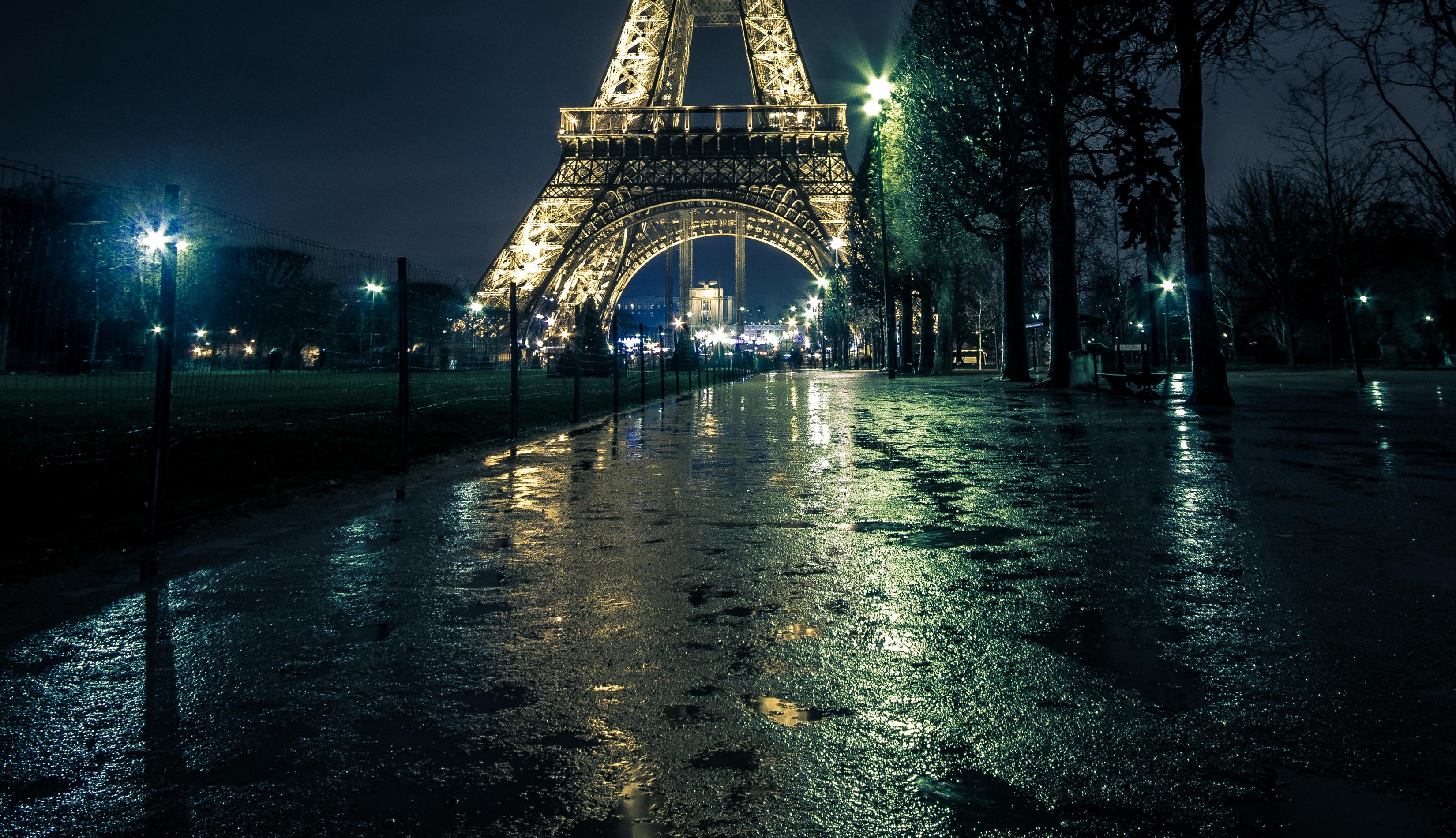 Франция дороги ночь фонари загрузить