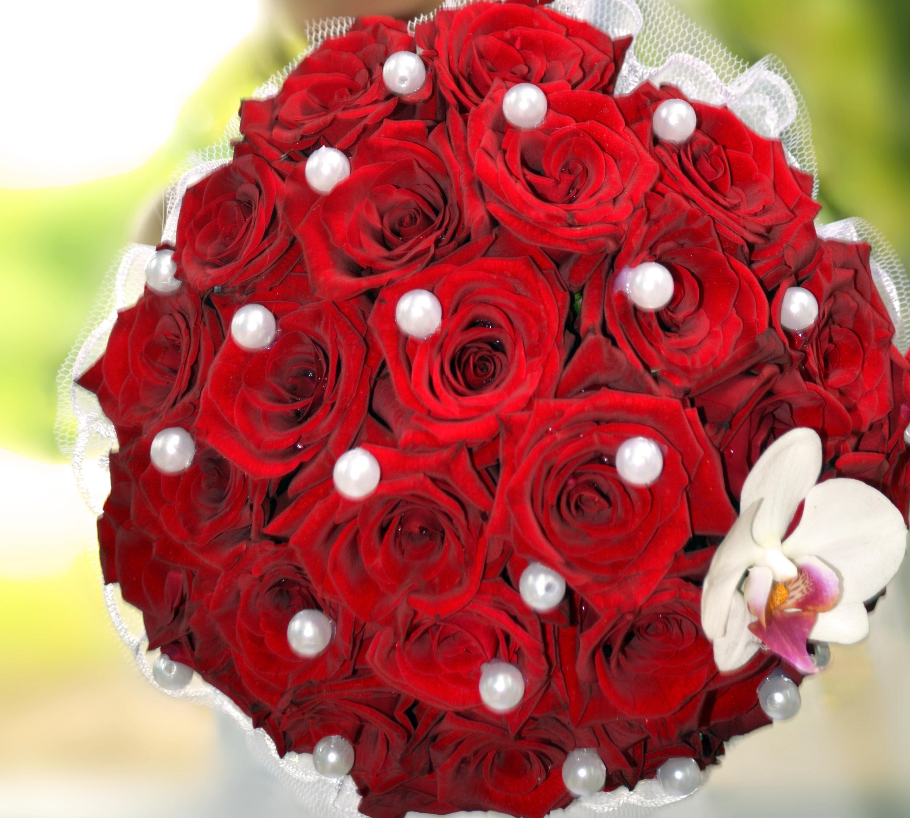 фото цветы букеты розы красные