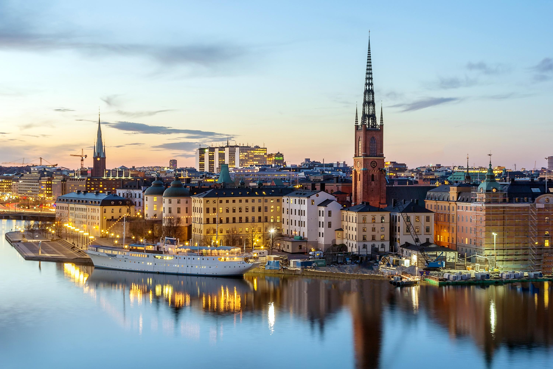 архитектура страны город река Стокгольм Швеция загрузить