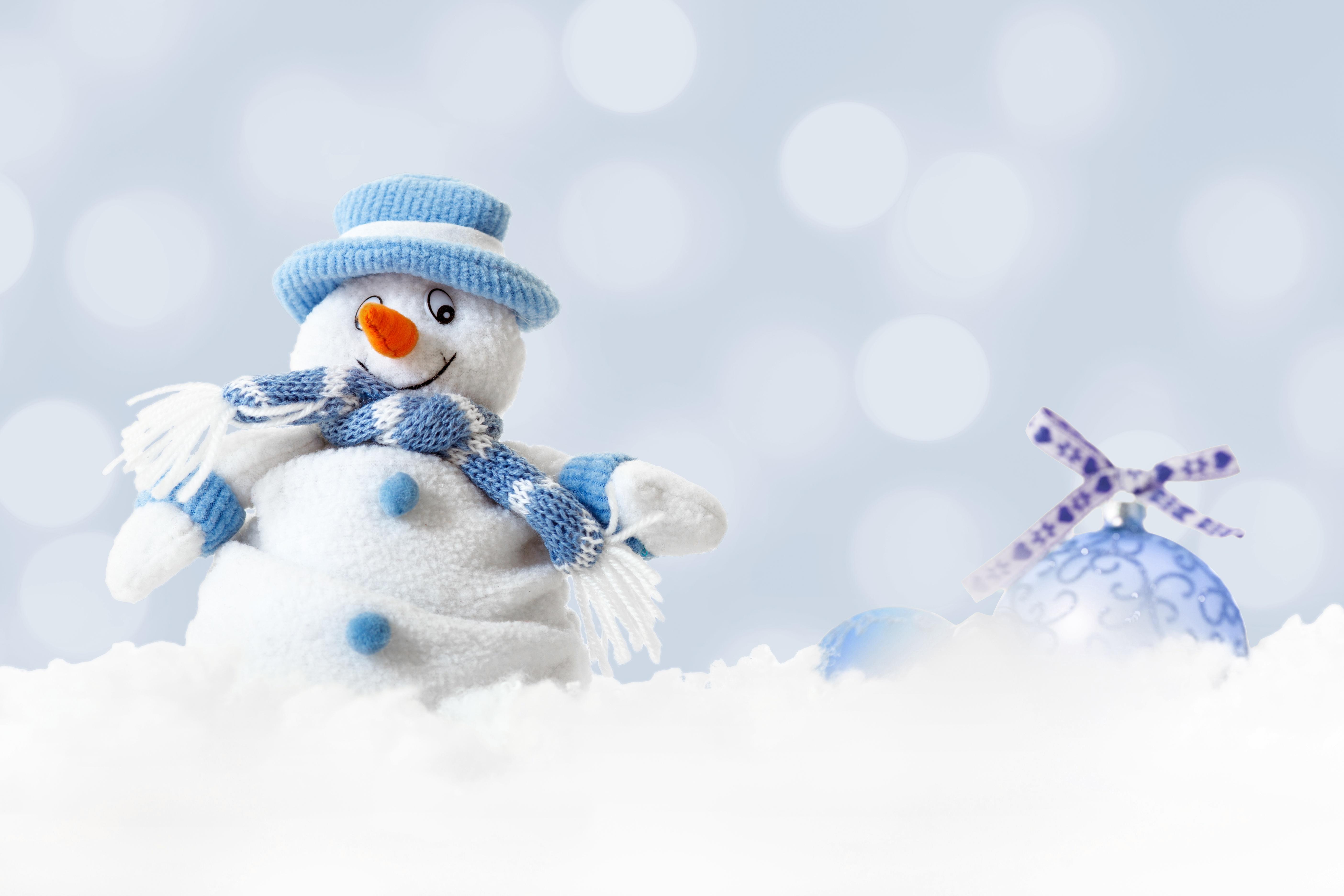 Снеговик зима шарф бесплатно