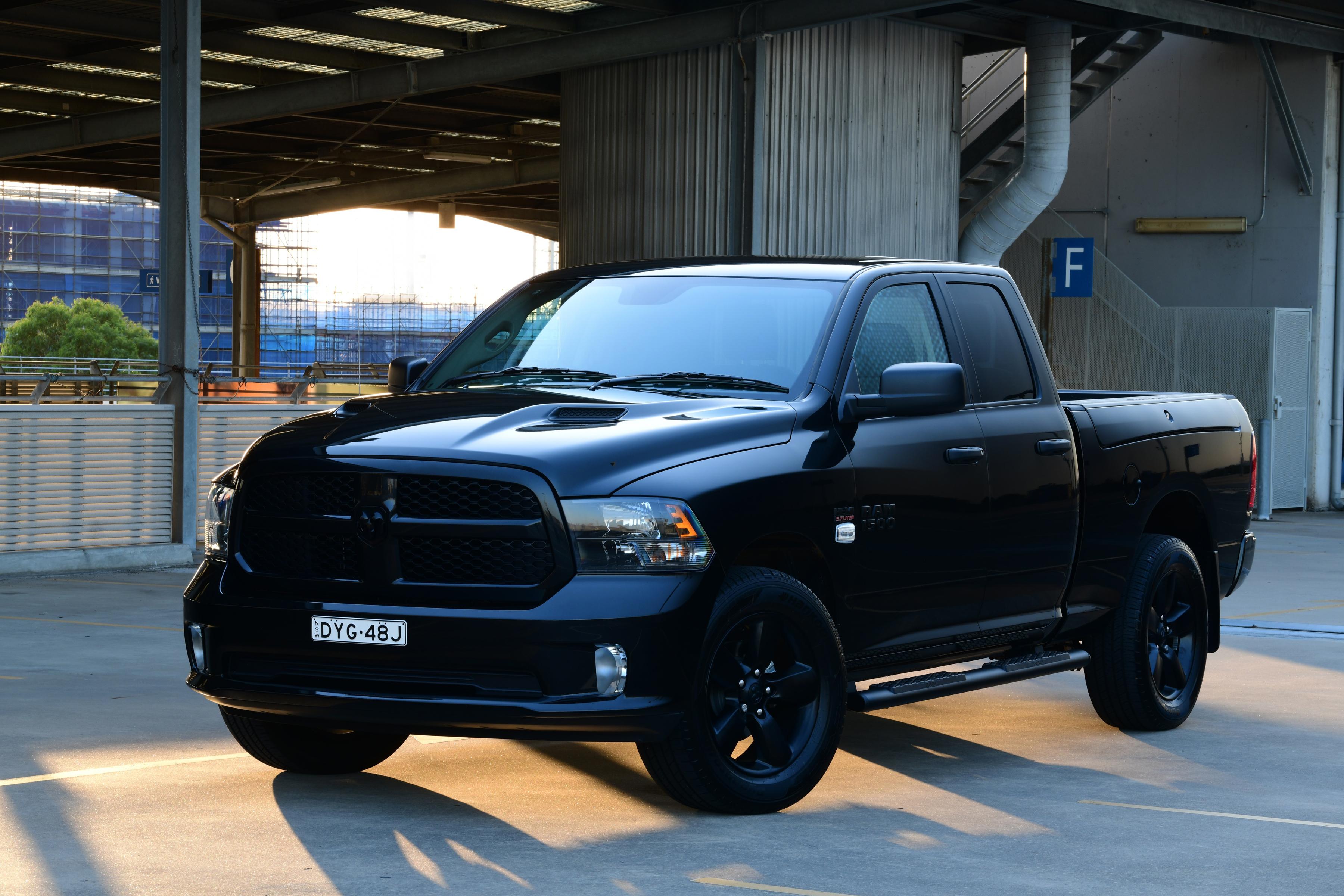 Фотография Додж 2019 Ram 1500 Express Black Pack Quad Cab Пикап кузов Черный Металлик Автомобили 3600x2400 Dodge черных черные черная авто машина машины автомобиль