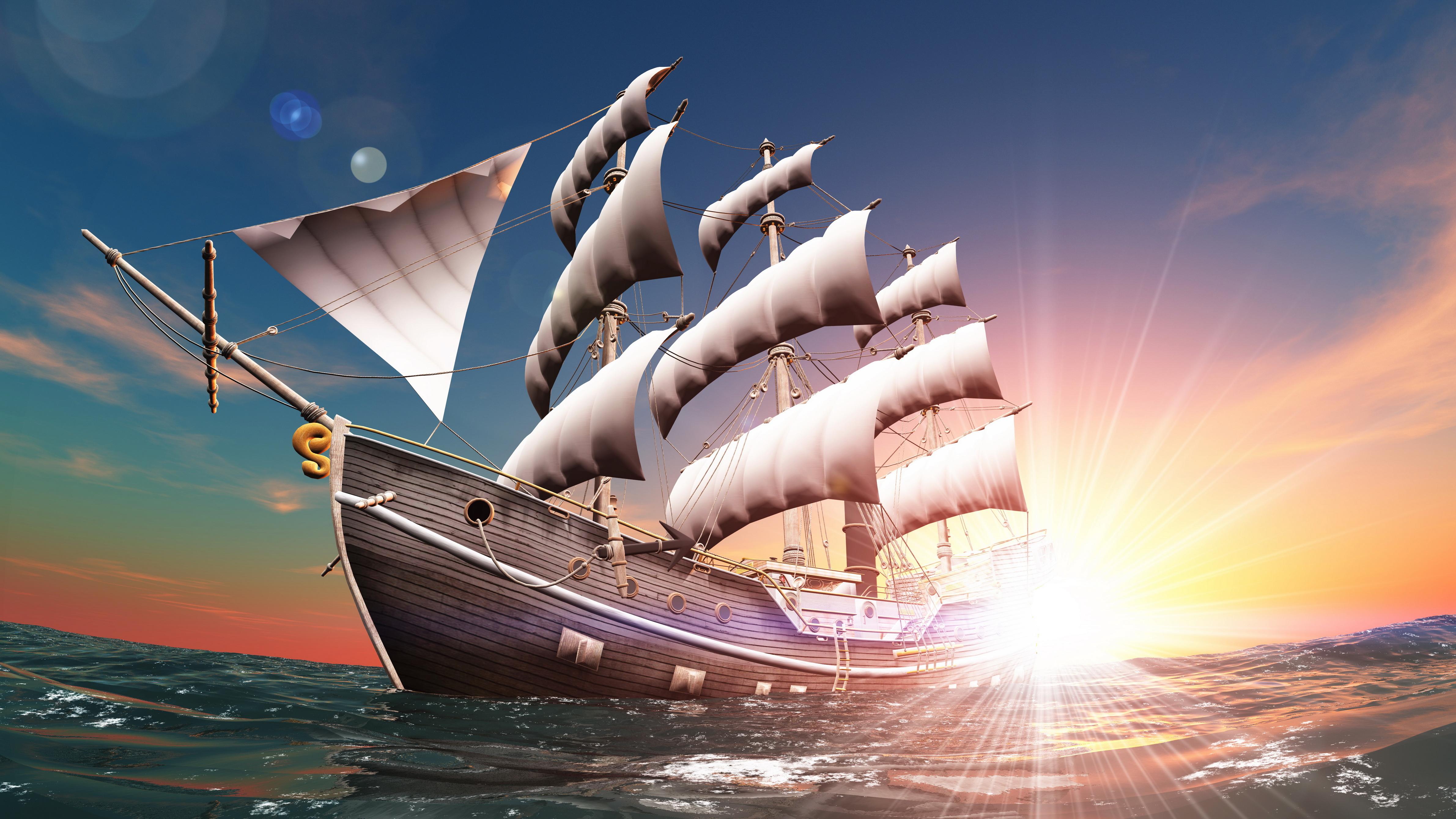 сказочный корабль с парусами загрузить