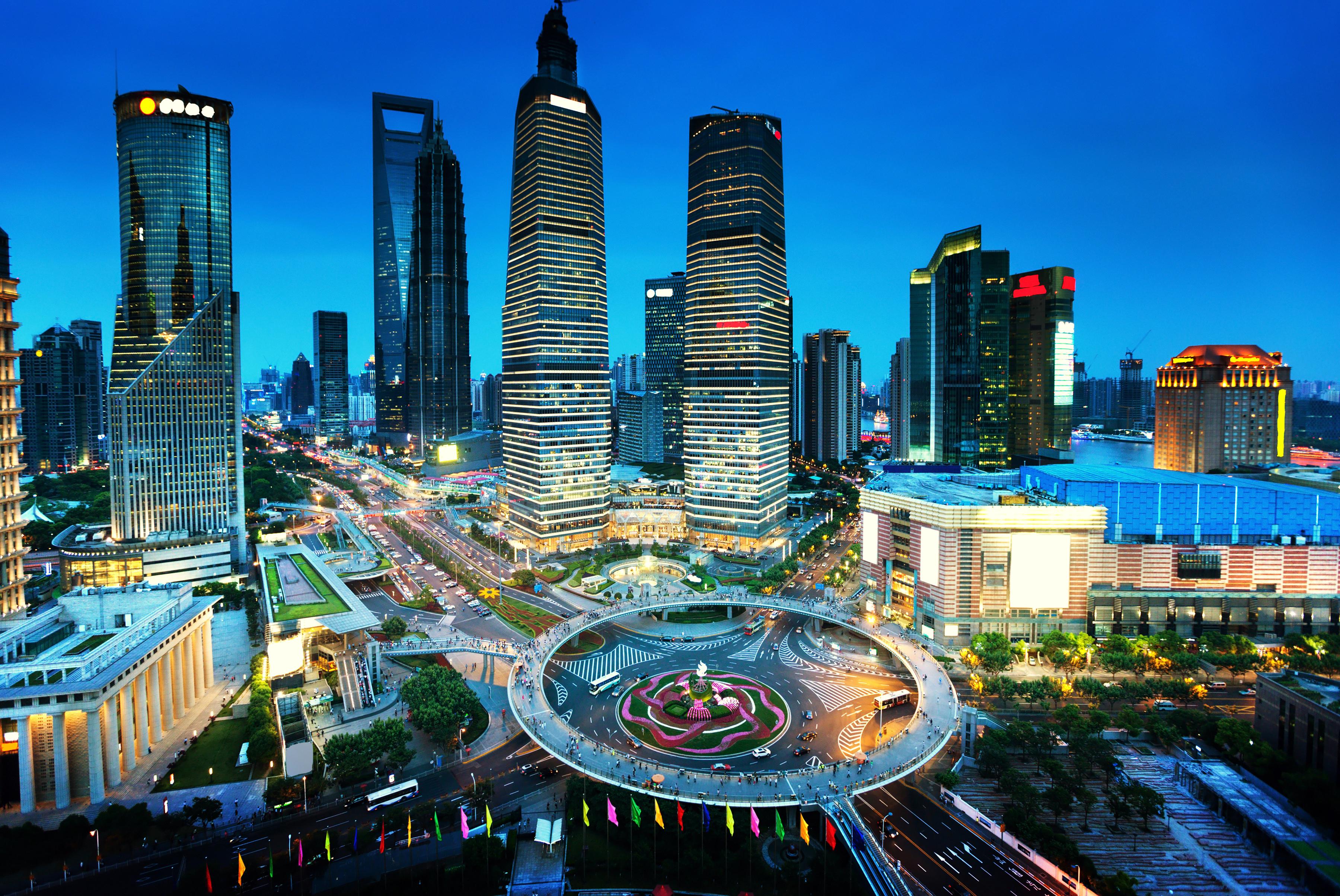 Обои здания, шанхай, ночной город, shanghai, китай, china. Города foto 8