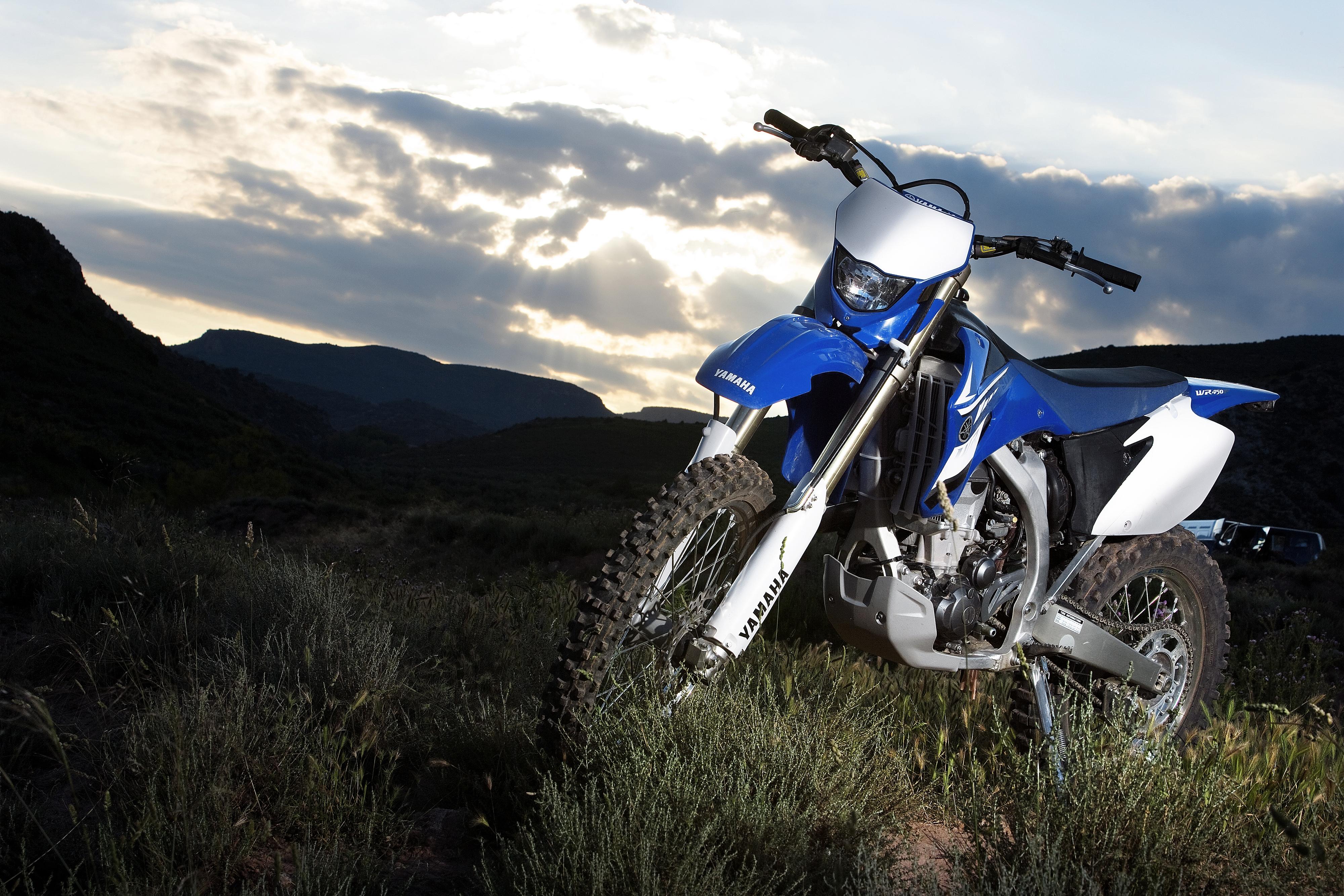 Картинки Ямаха 2007-10 WR450F мотоцикл 4000x2667 Yamaha Мотоциклы