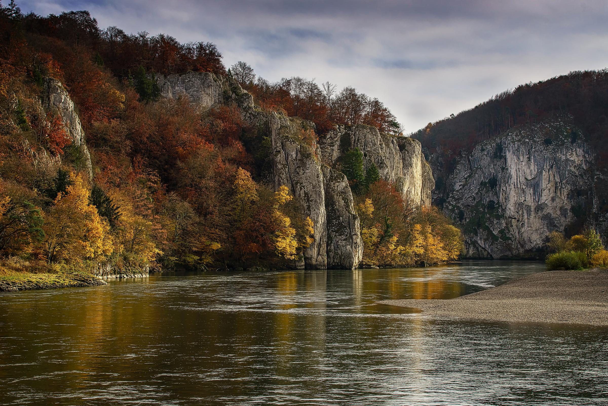 Речка осень фото