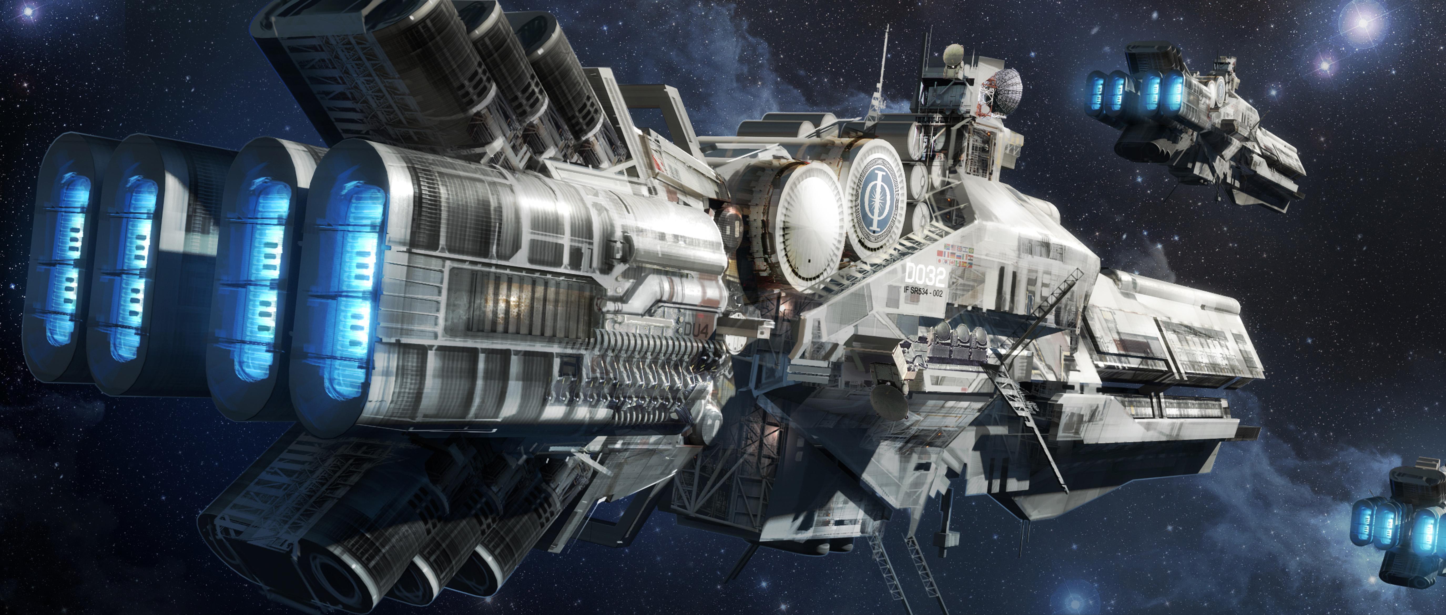 картинка Enders Game космос фантастика кино корабли техника