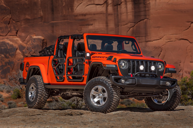 Фото Jeep 2019 Gladiator Gravity Пикап кузов Красный Автомобили 3000x2000 Джип красных красные красная авто машина машины автомобиль