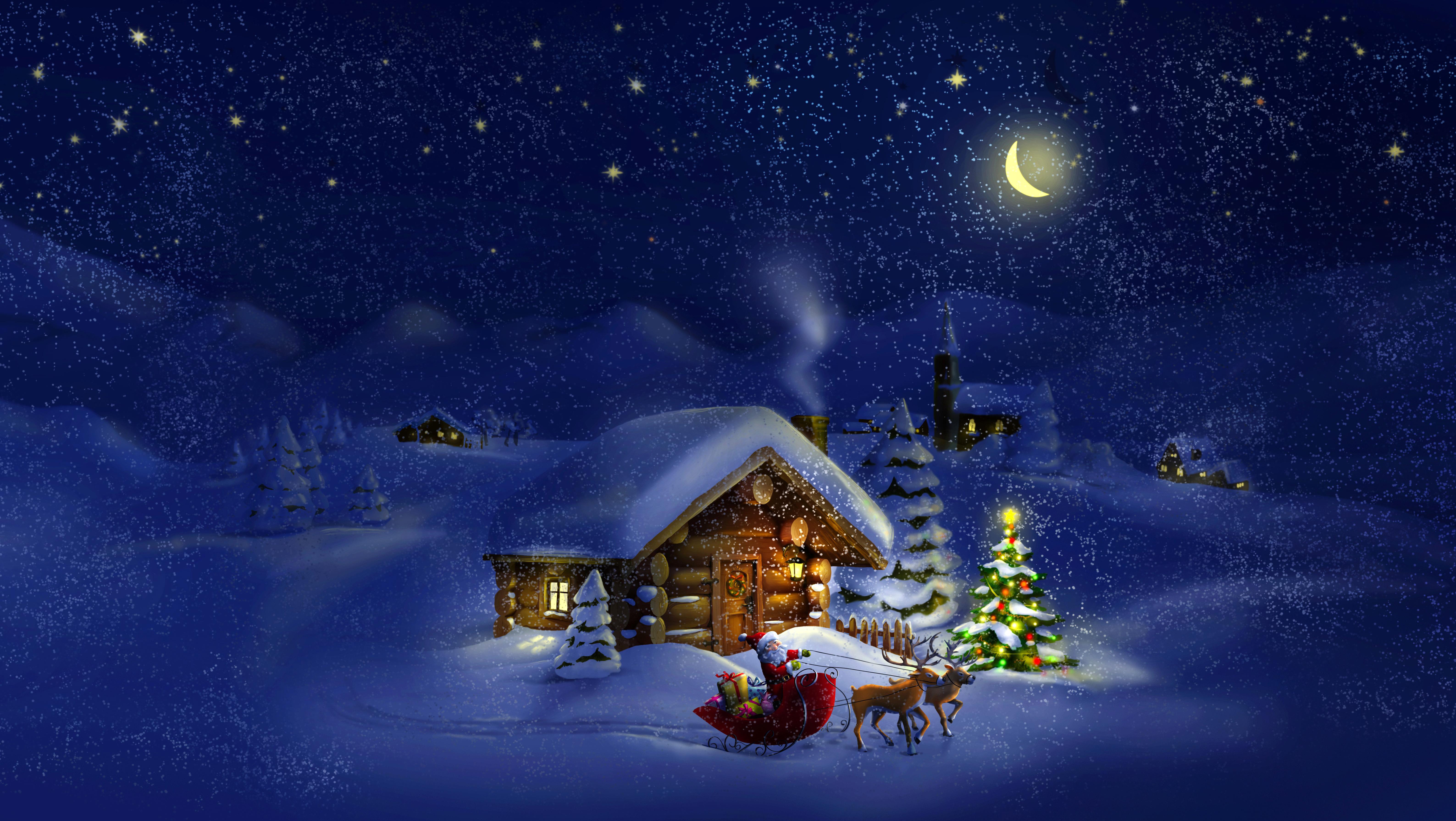 снежная ночь бесплатно